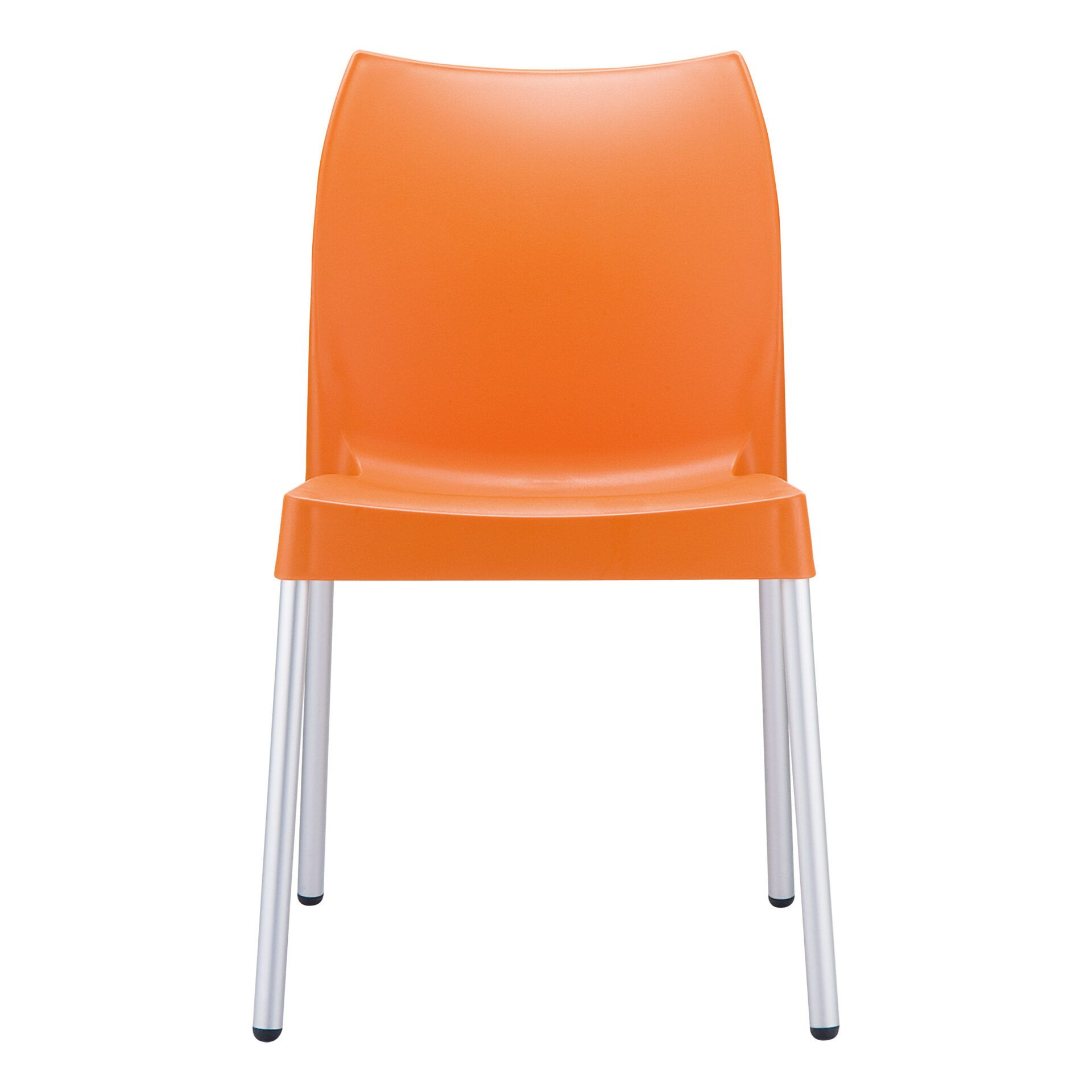 commercial outdoor hospitality seating vita chair orange front