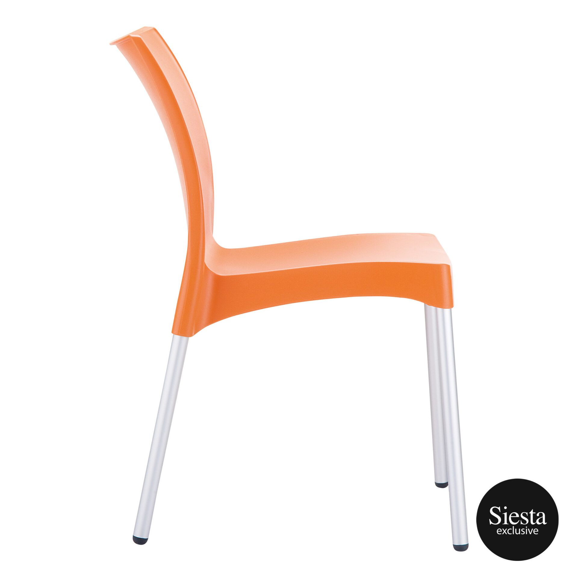 commercial outdoor hospitality seating vita chair orange side 1
