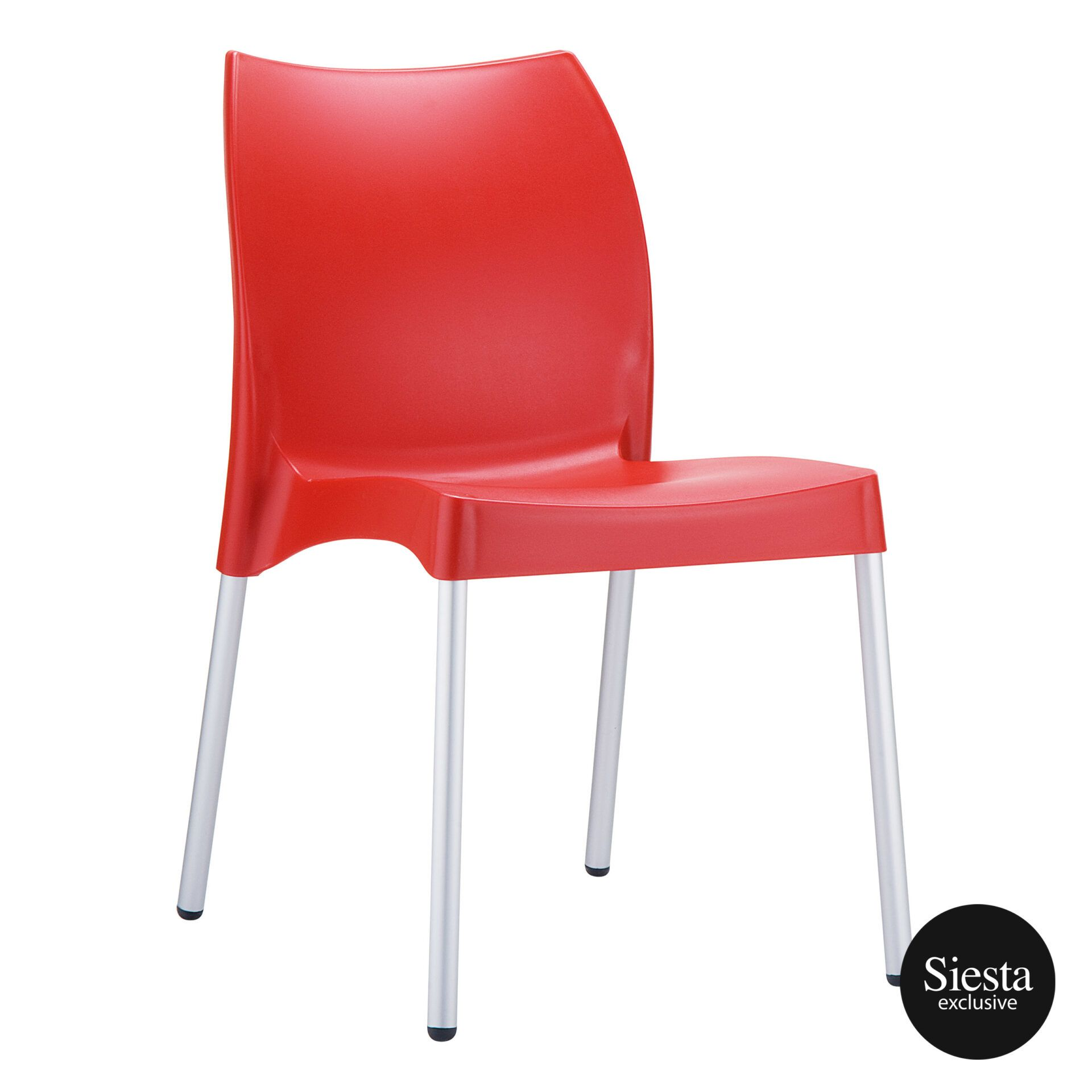 commercial outdoor hospitality seating vita chair red front side 1