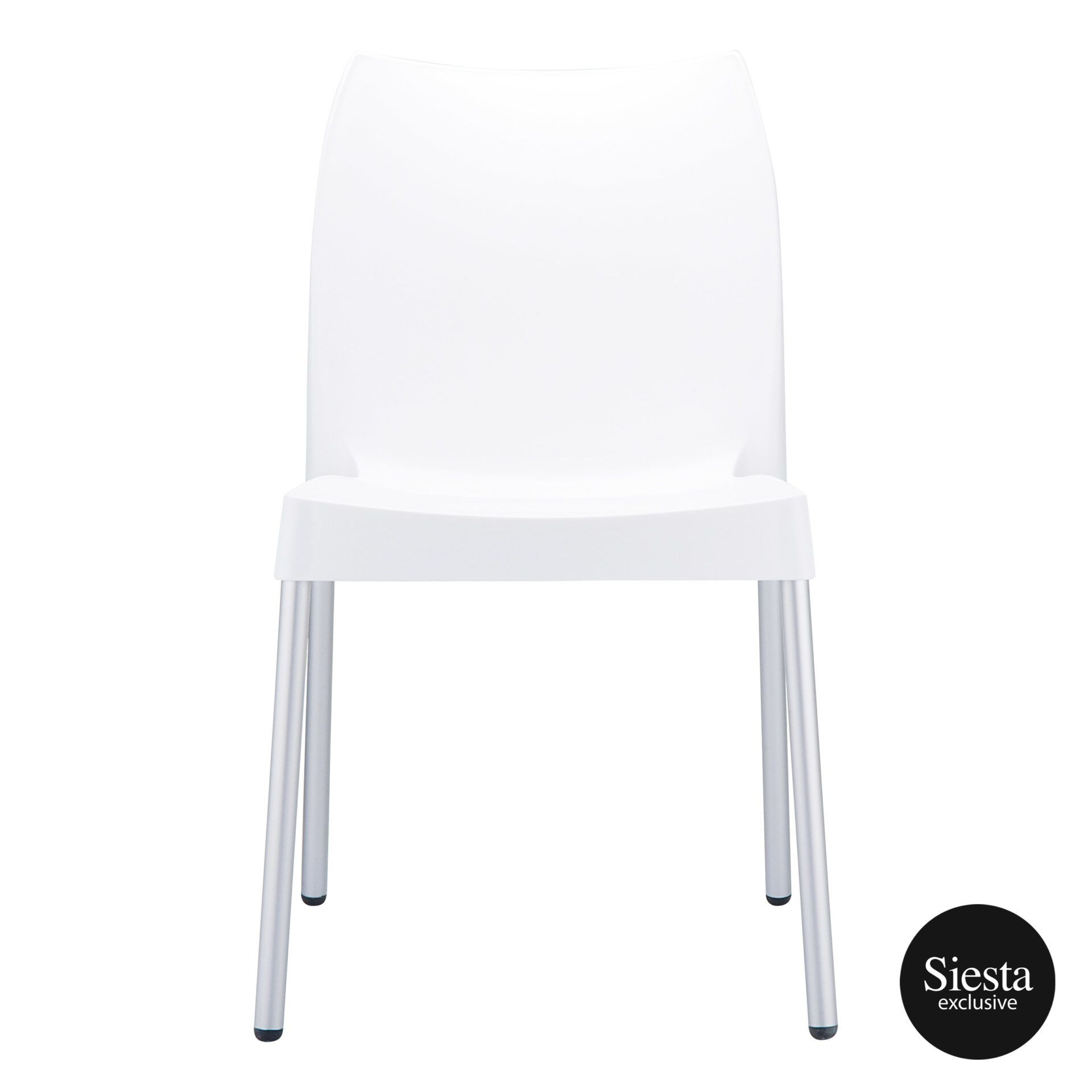 commercial outdoor hospitality seating vita chair white front 1