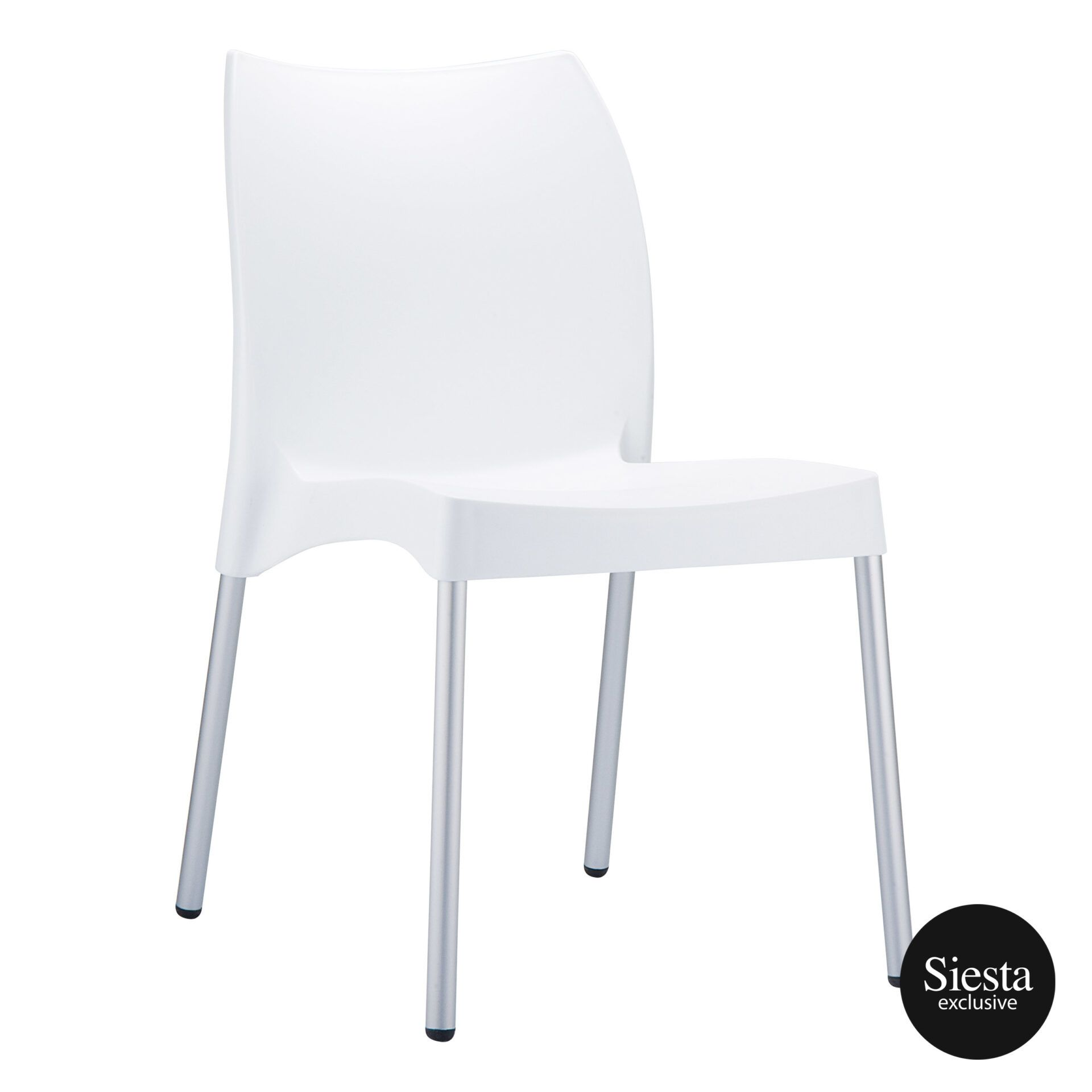 commercial outdoor hospitality seating vita chair white front side 1