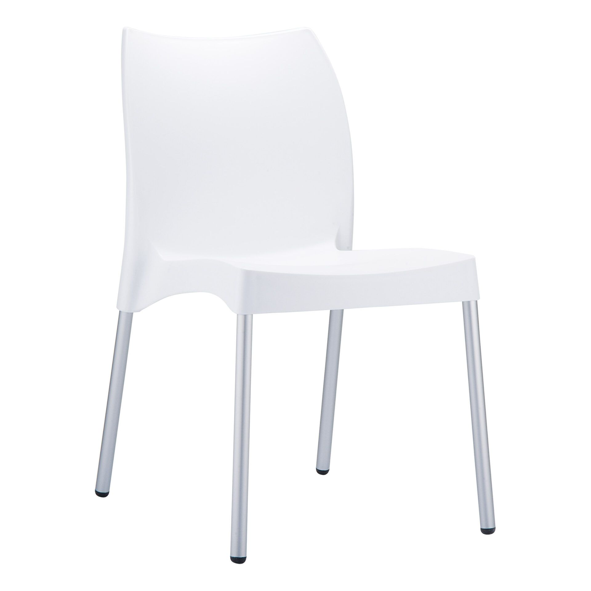 commercial outdoor hospitality seating vita chair white front side
