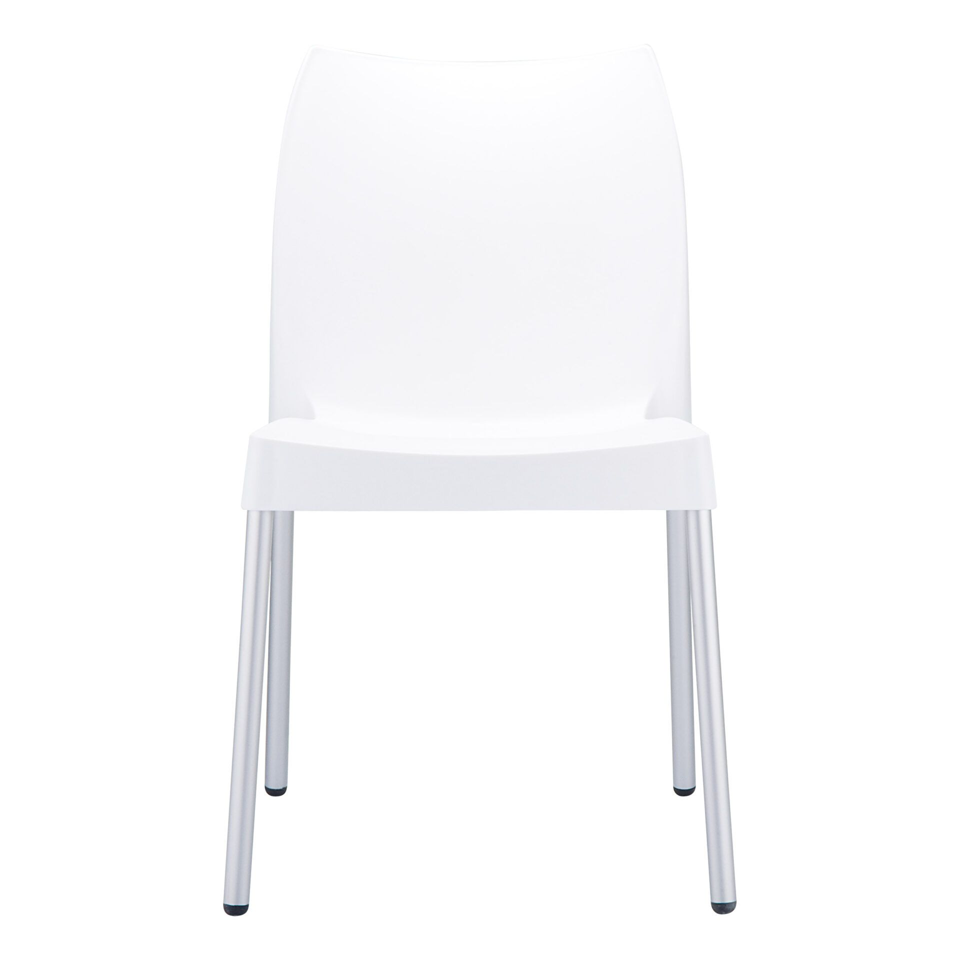 commercial outdoor hospitality seating vita chair white front