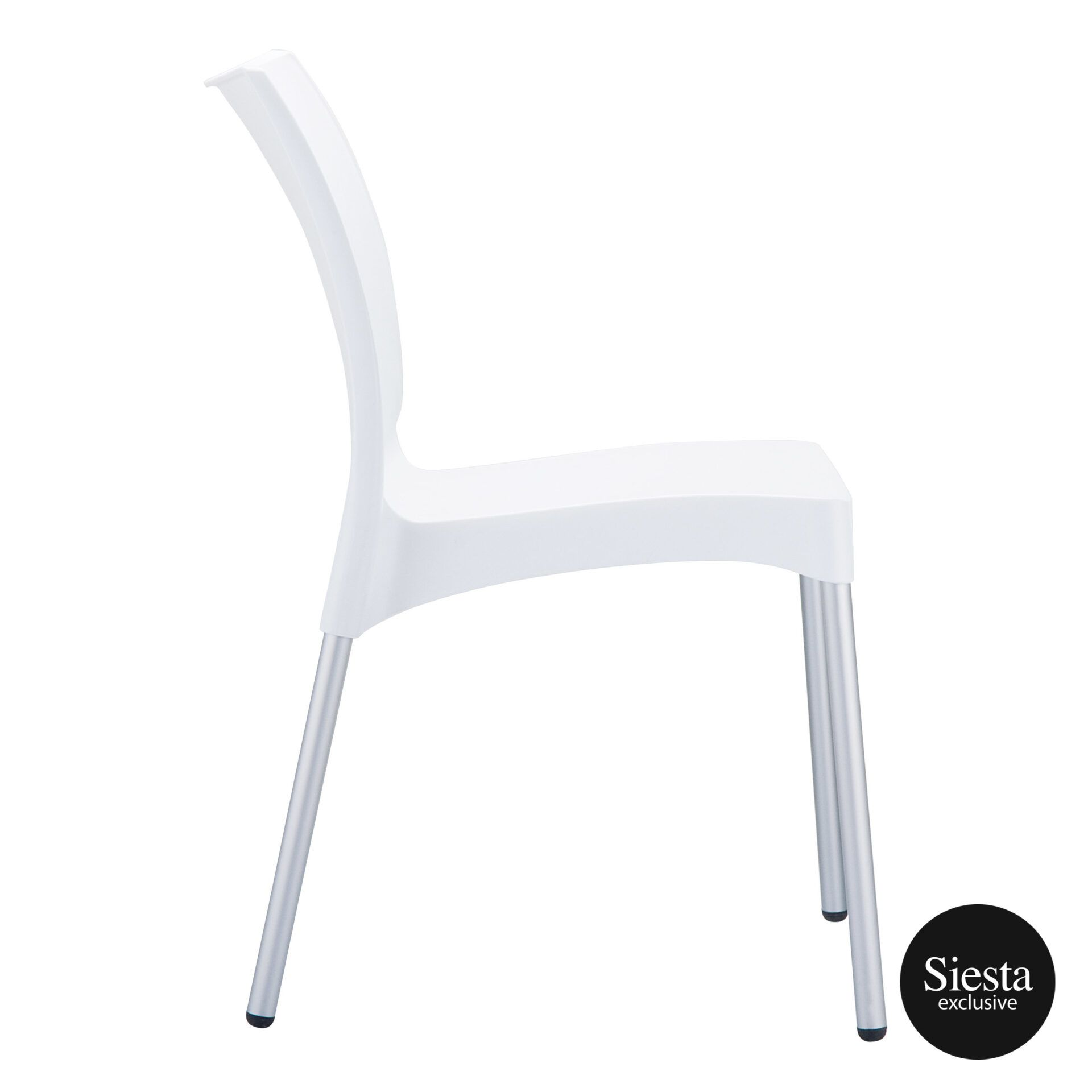 commercial outdoor hospitality seating vita chair white side 1