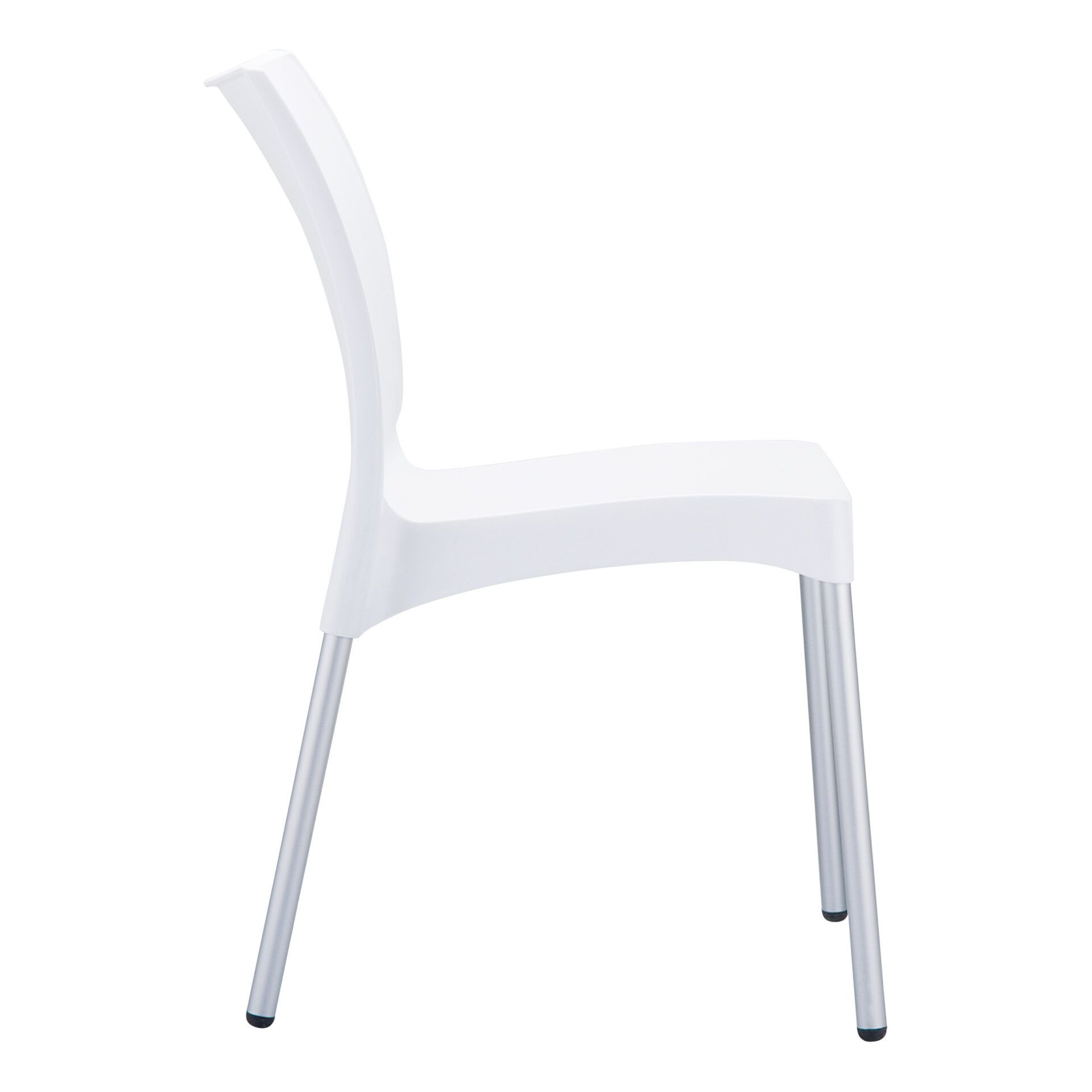 commercial outdoor hospitality seating vita chair white side