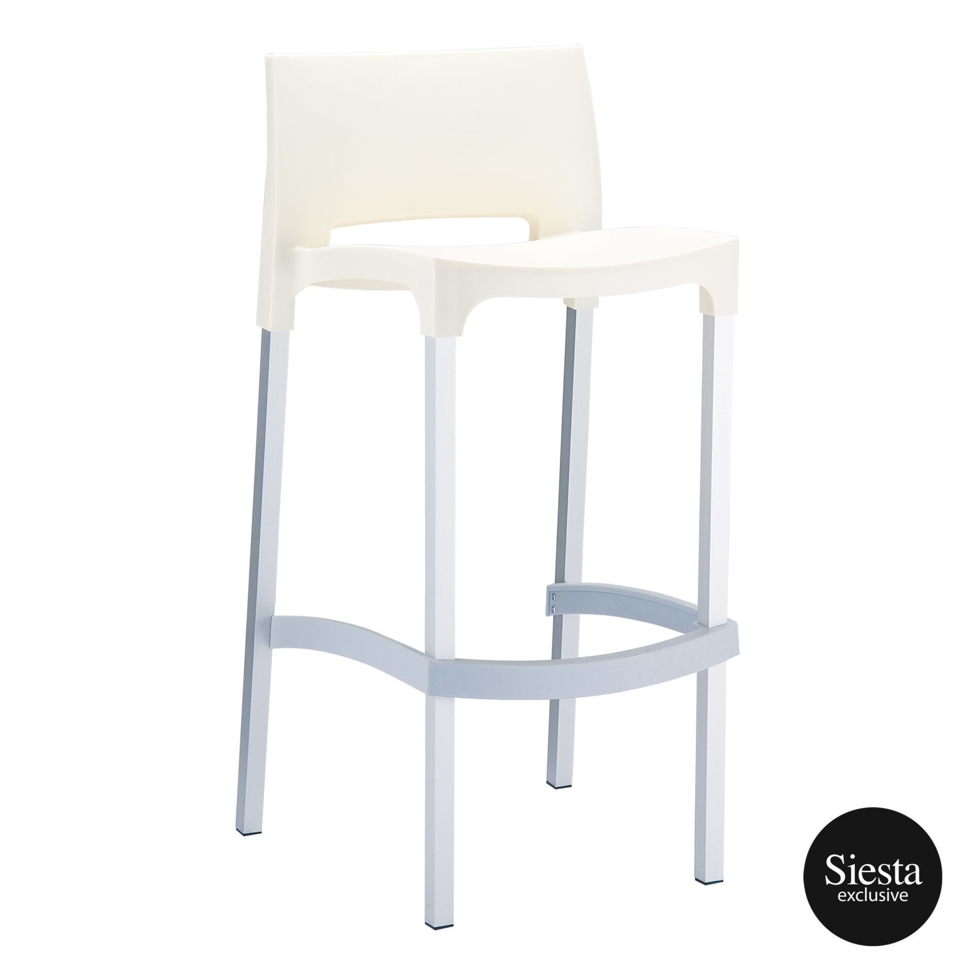 commercial plastic gio barstool beige front side 1