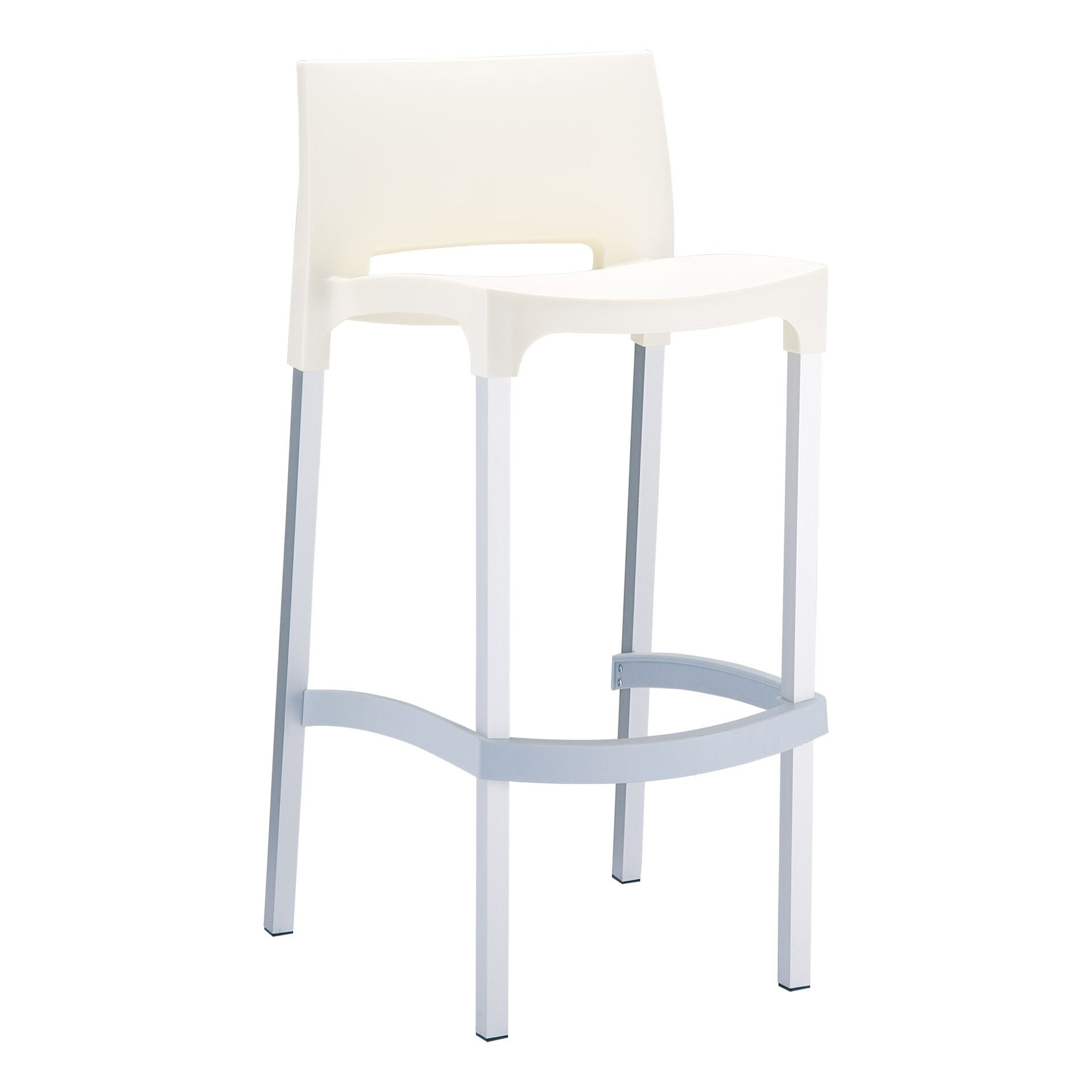 commercial plastic gio barstool beige front side