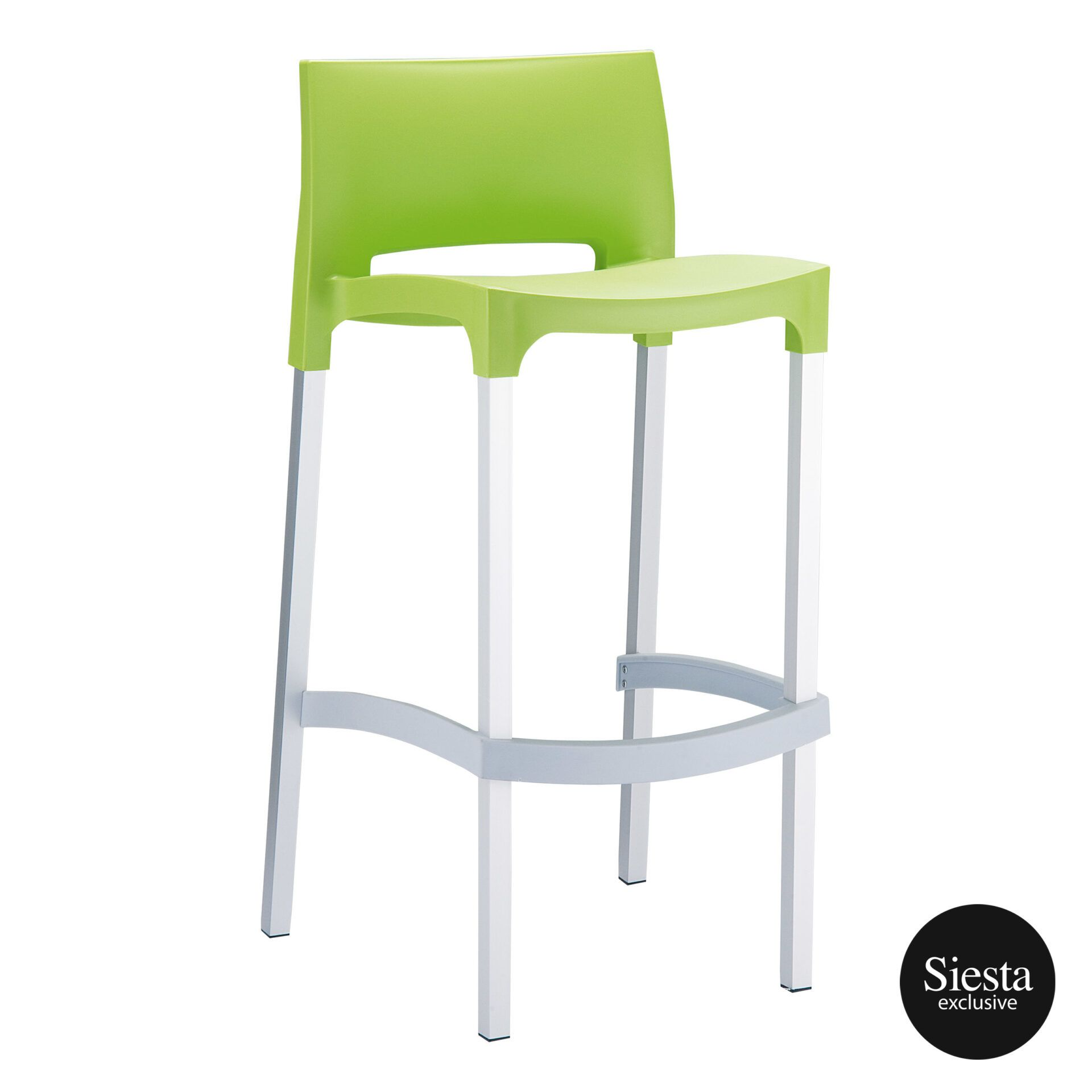 commercial plastic gio barstool green front side 1