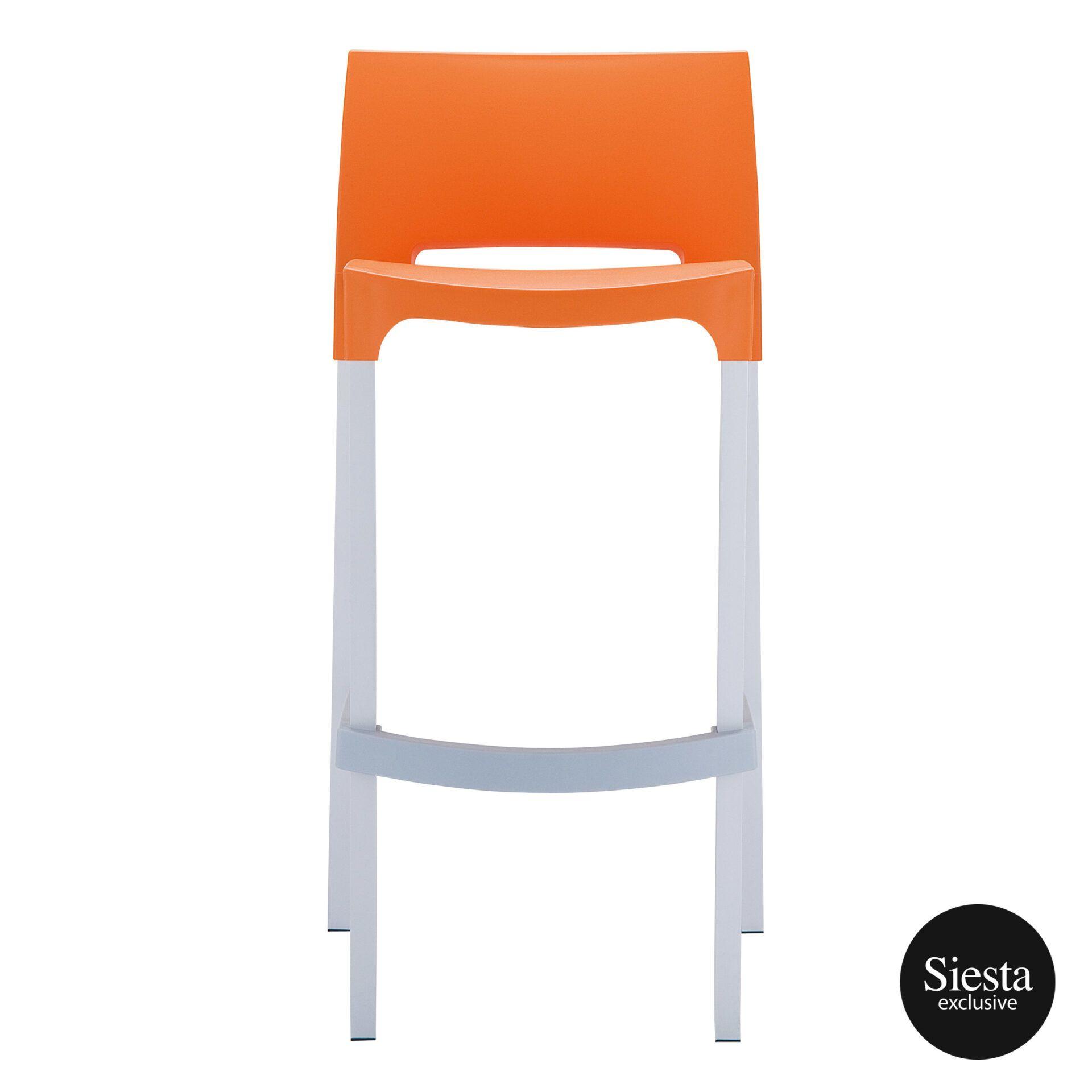 commercial plastic gio barstool orange front 1