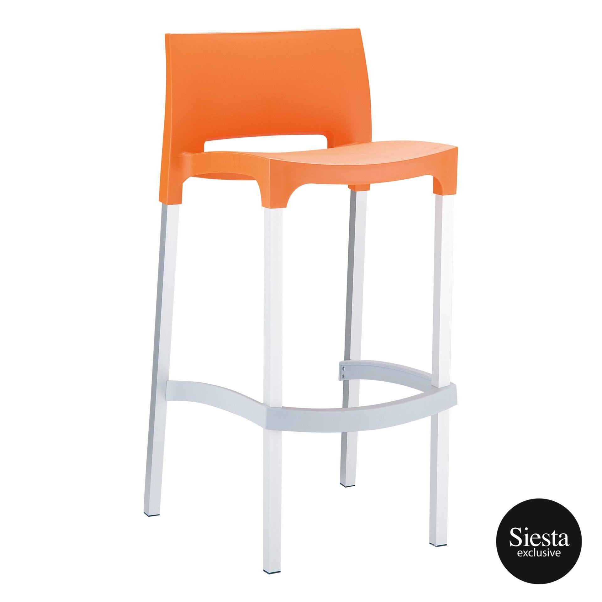 commercial plastic gio barstool orange front side 1