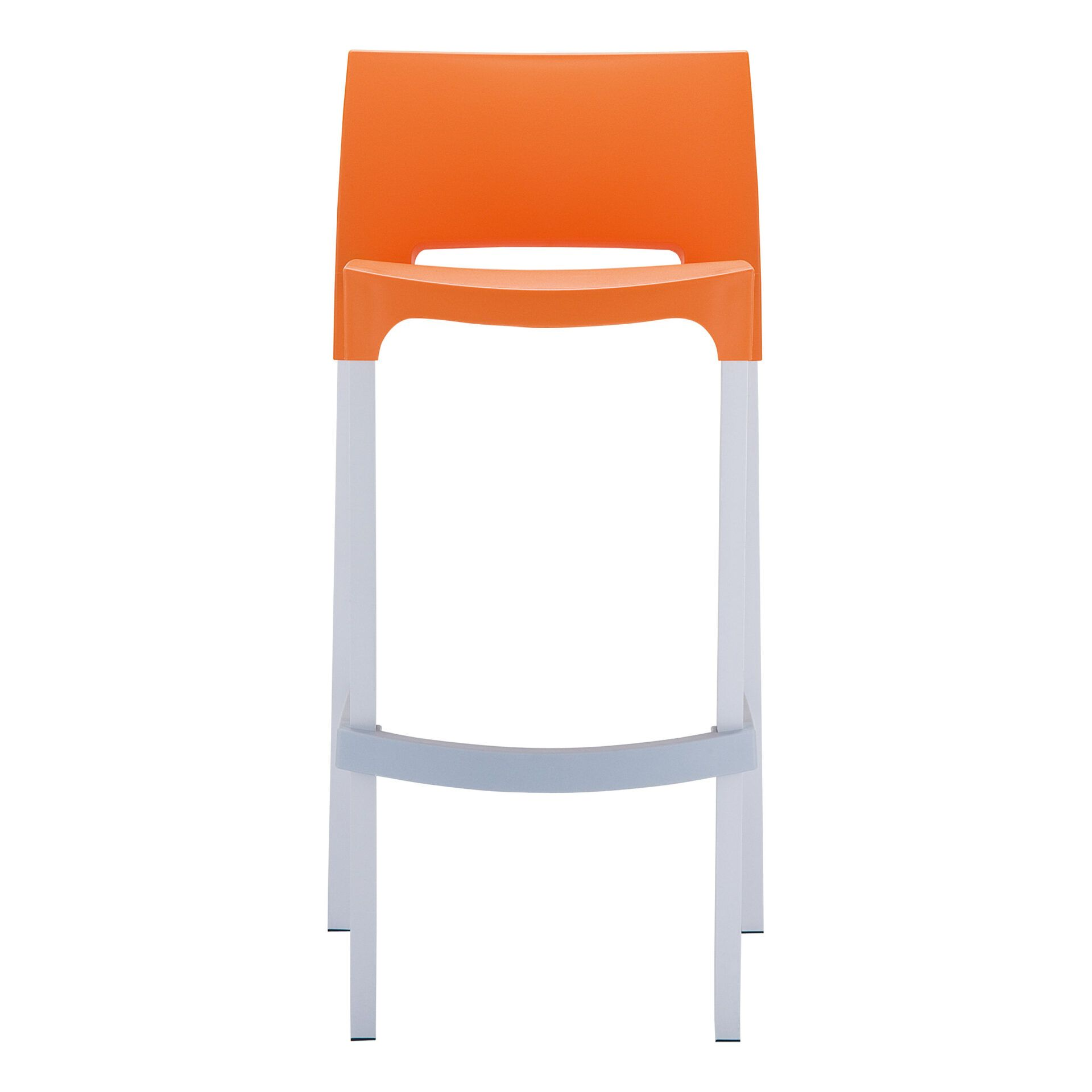 commercial plastic gio barstool orange front