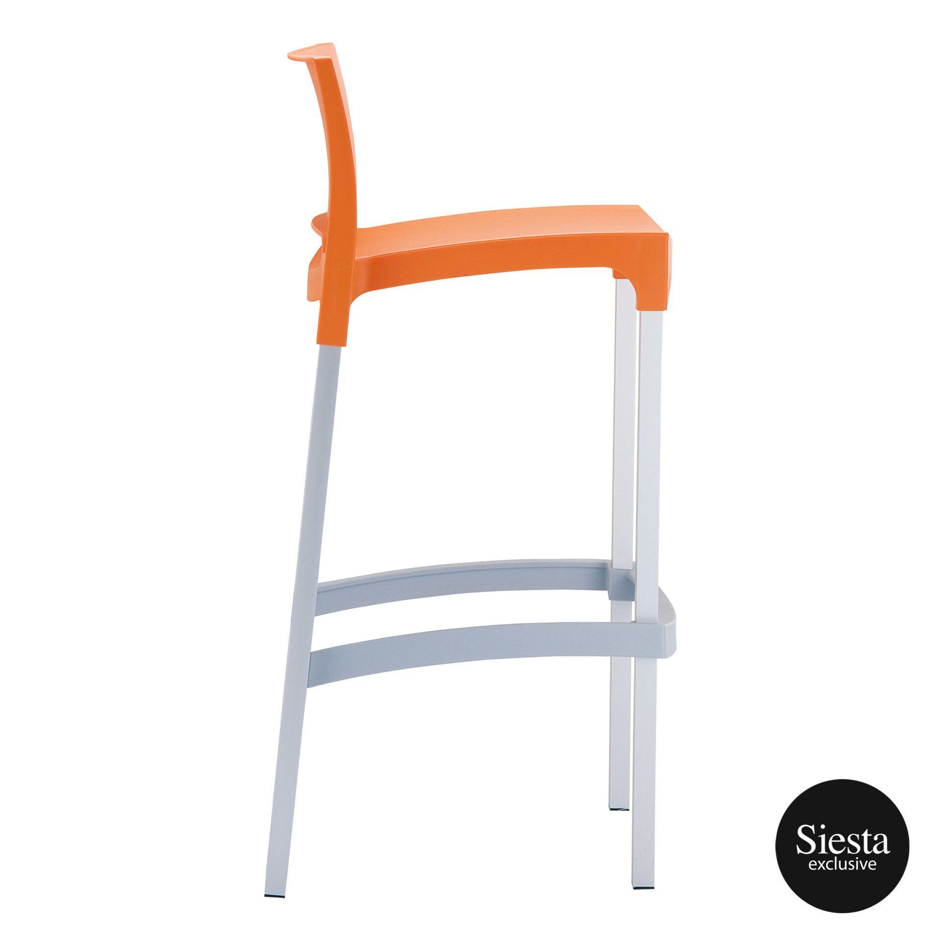 commercial plastic gio barstool orange side 1