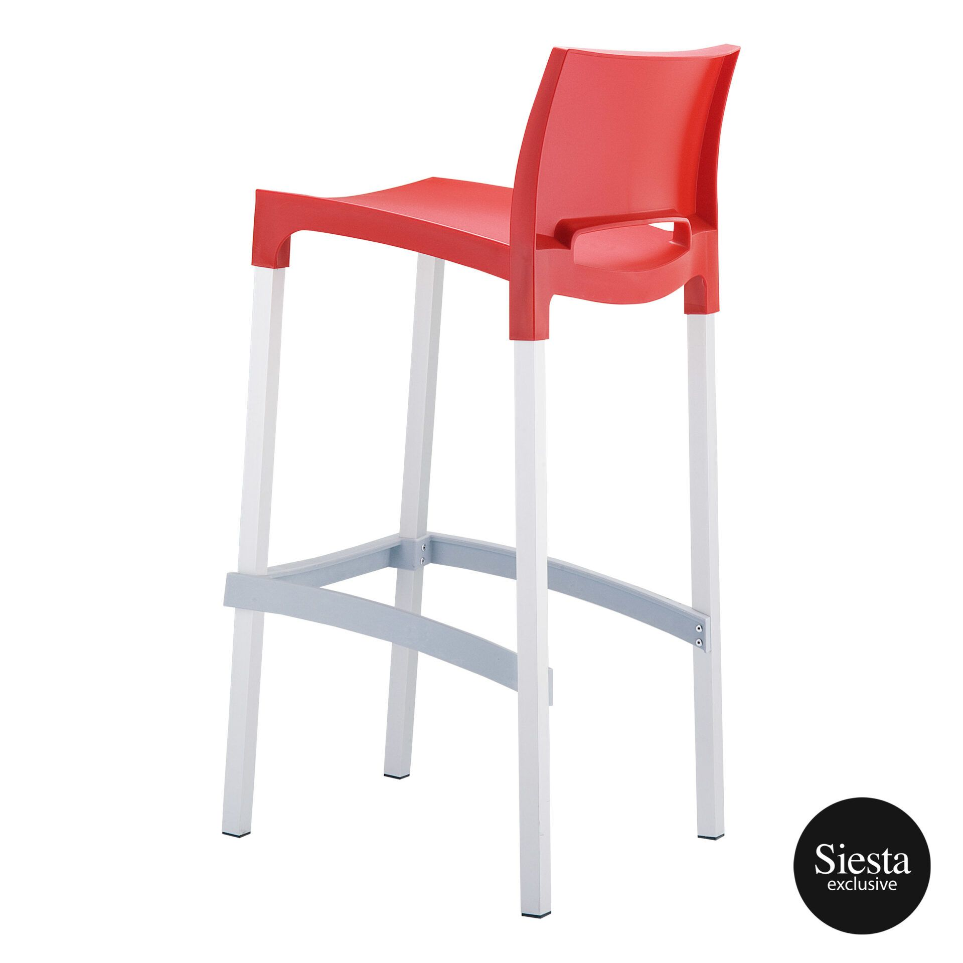 commercial plastic gio barstool red back side 1