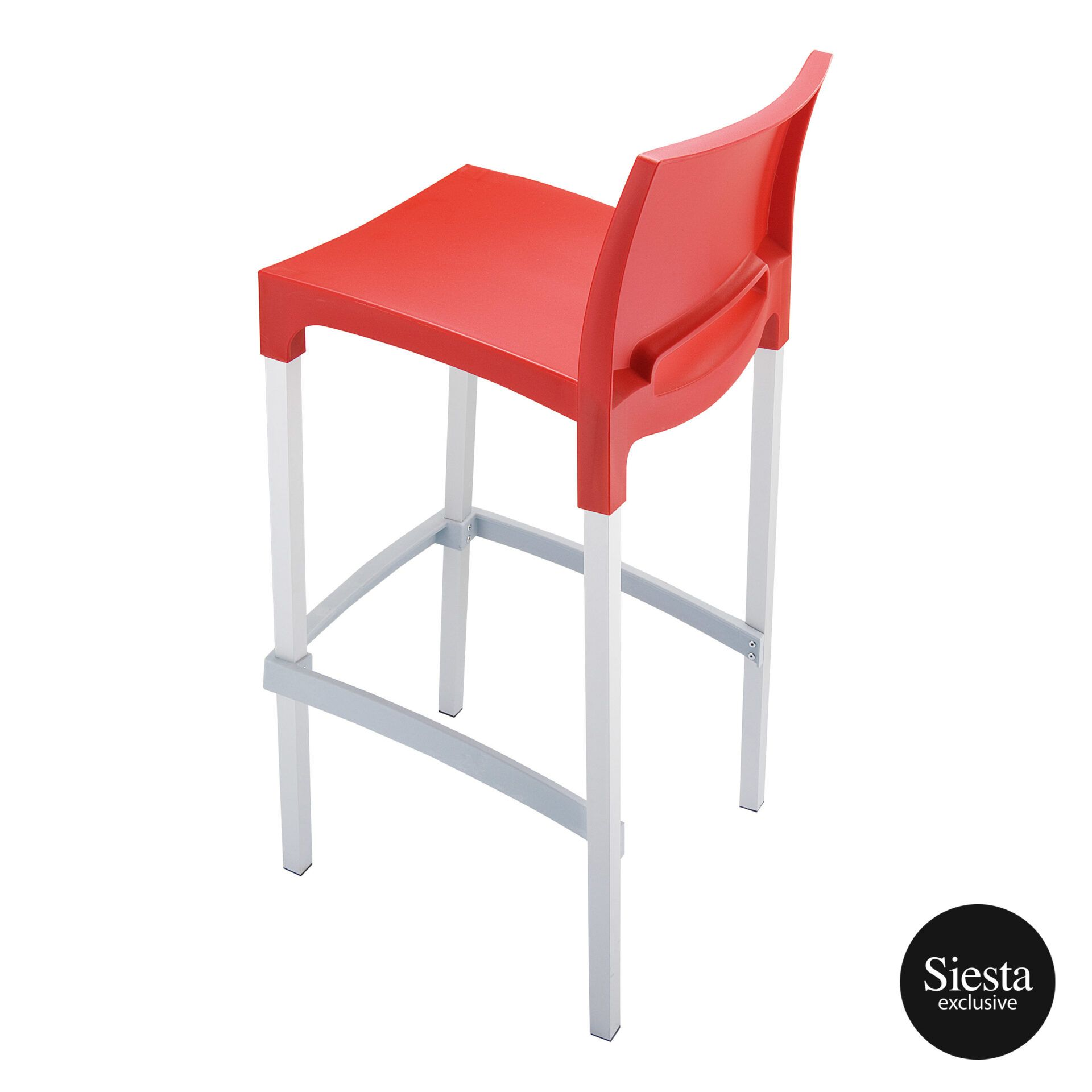 commercial plastic gio barstool red top side 1