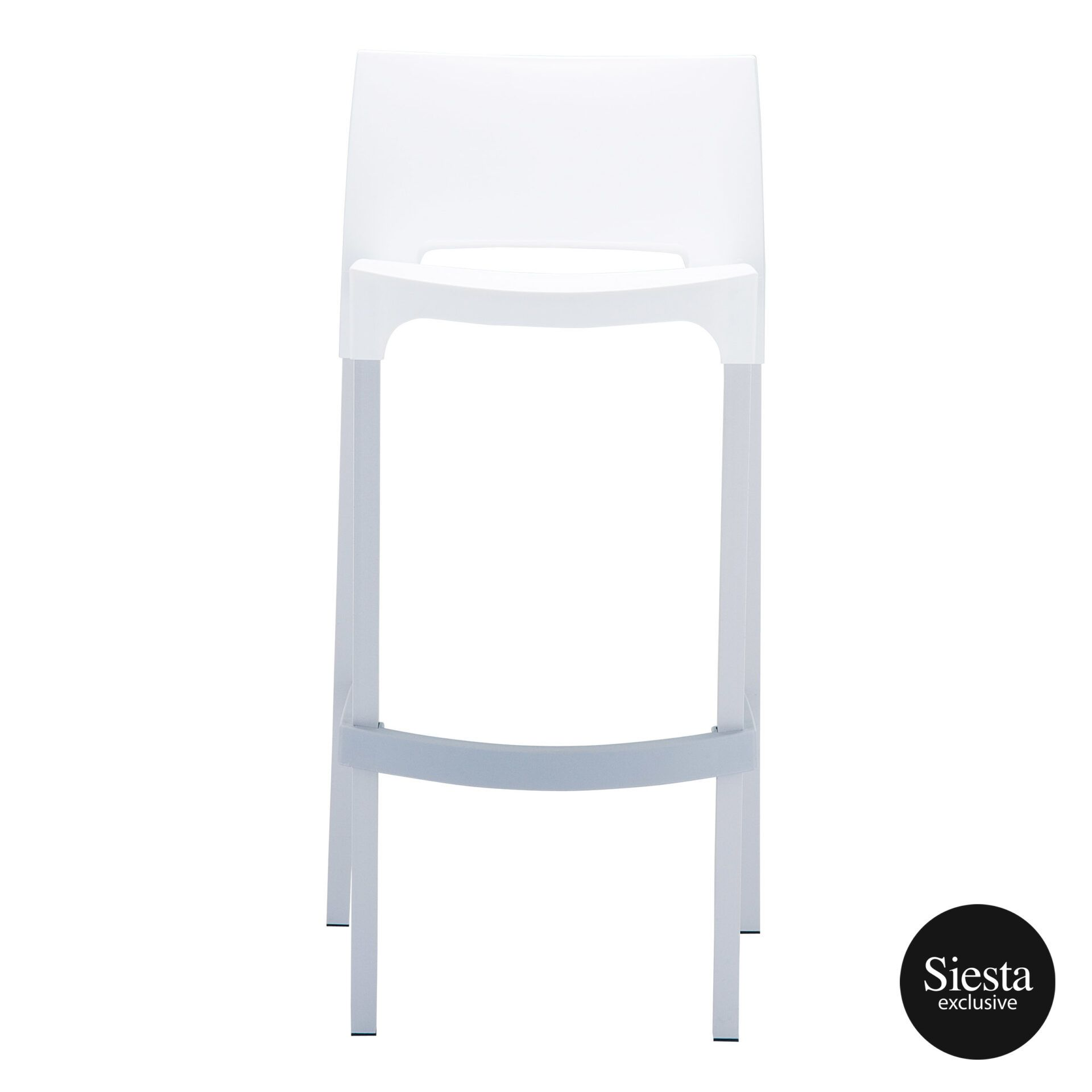 commercial plastic gio barstool white front 1