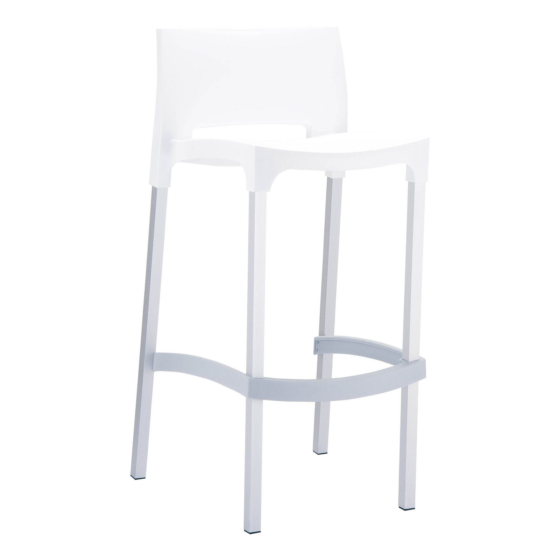 commercial plastic gio barstool white front side