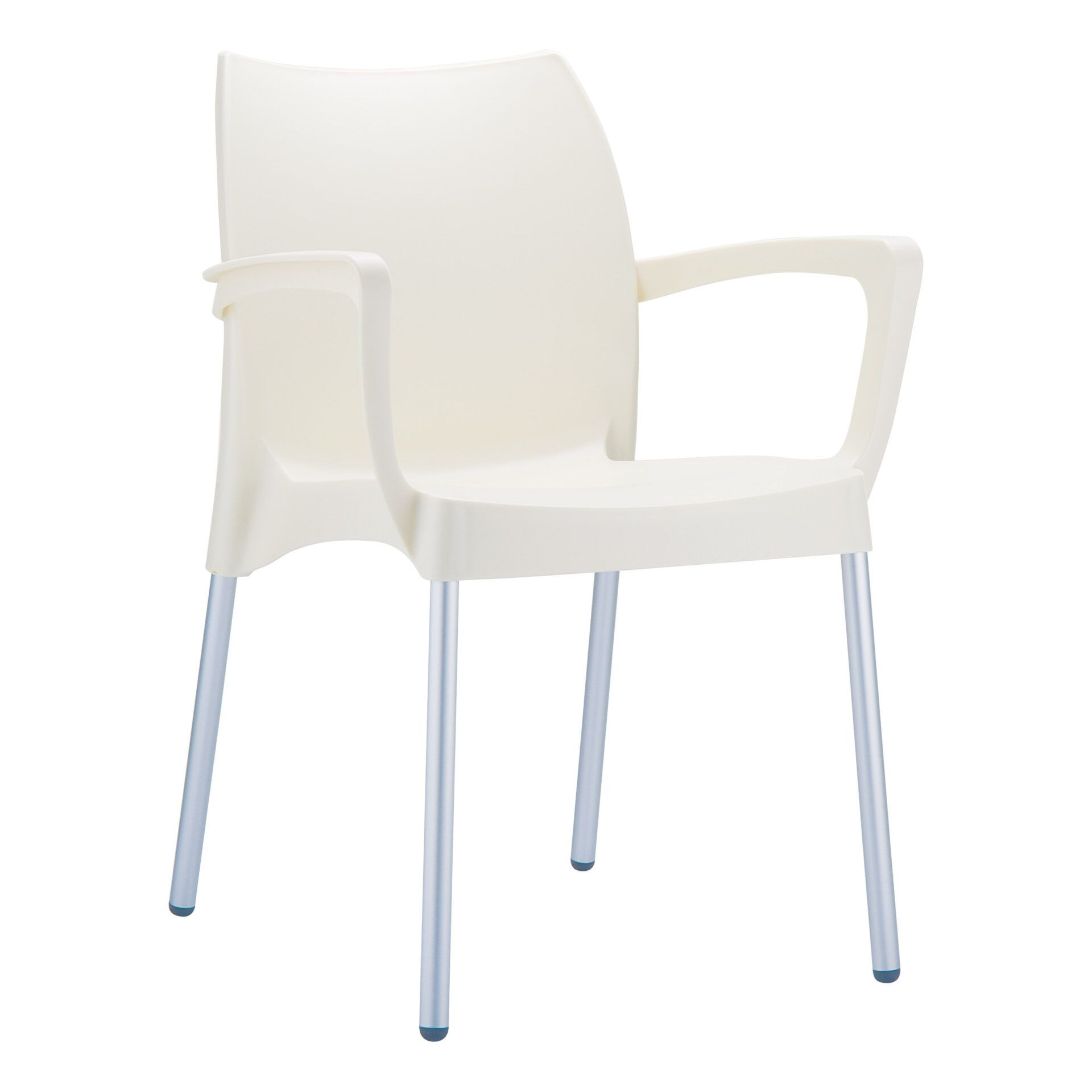 commercial polypropylene dolce chair beige front side