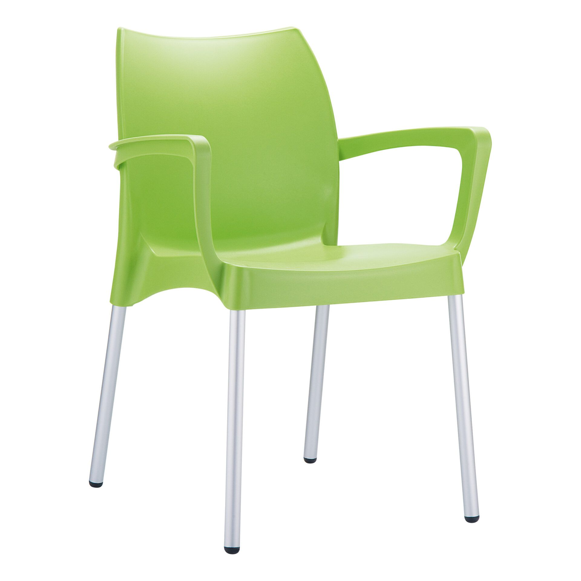 commercial polypropylene dolce chair green front side