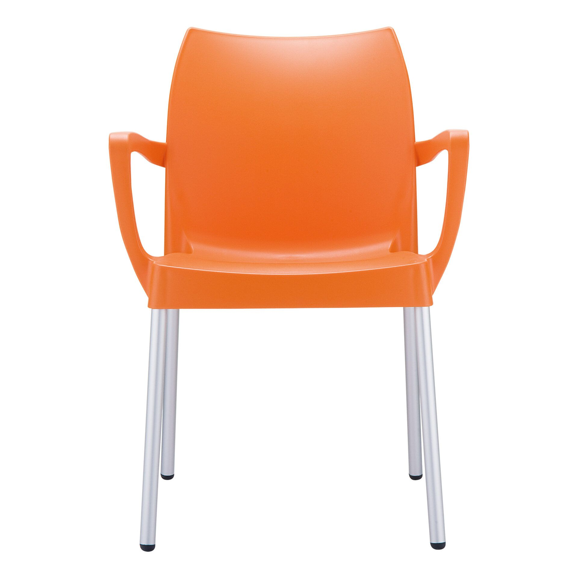 commercial polypropylene dolce chair orange front