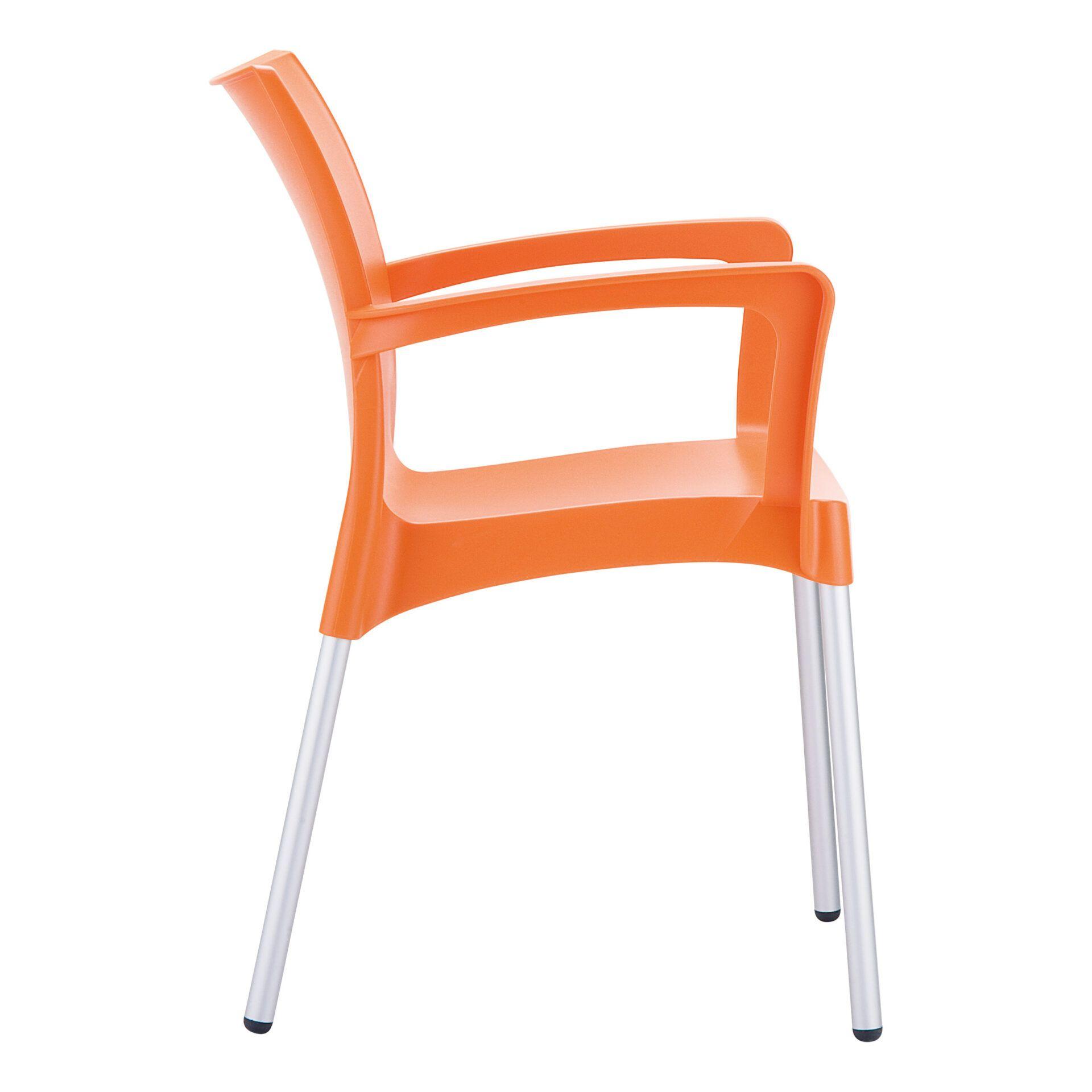 commercial polypropylene dolce chair orange side