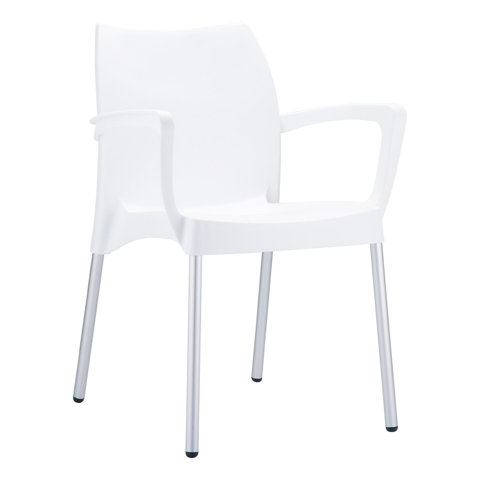 commercial polypropylene dolce chair white front side