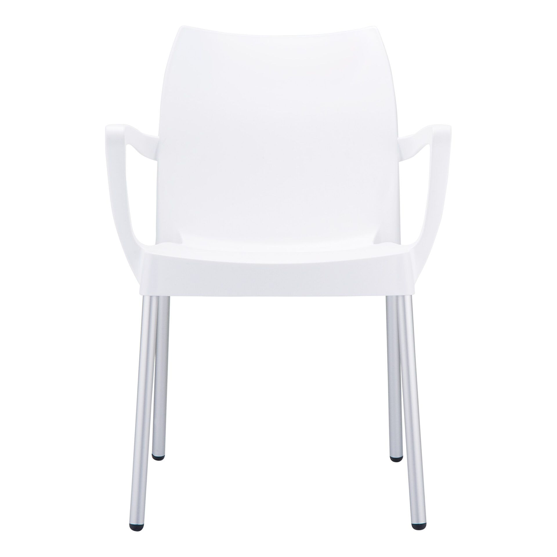 commercial polypropylene dolce chair white front