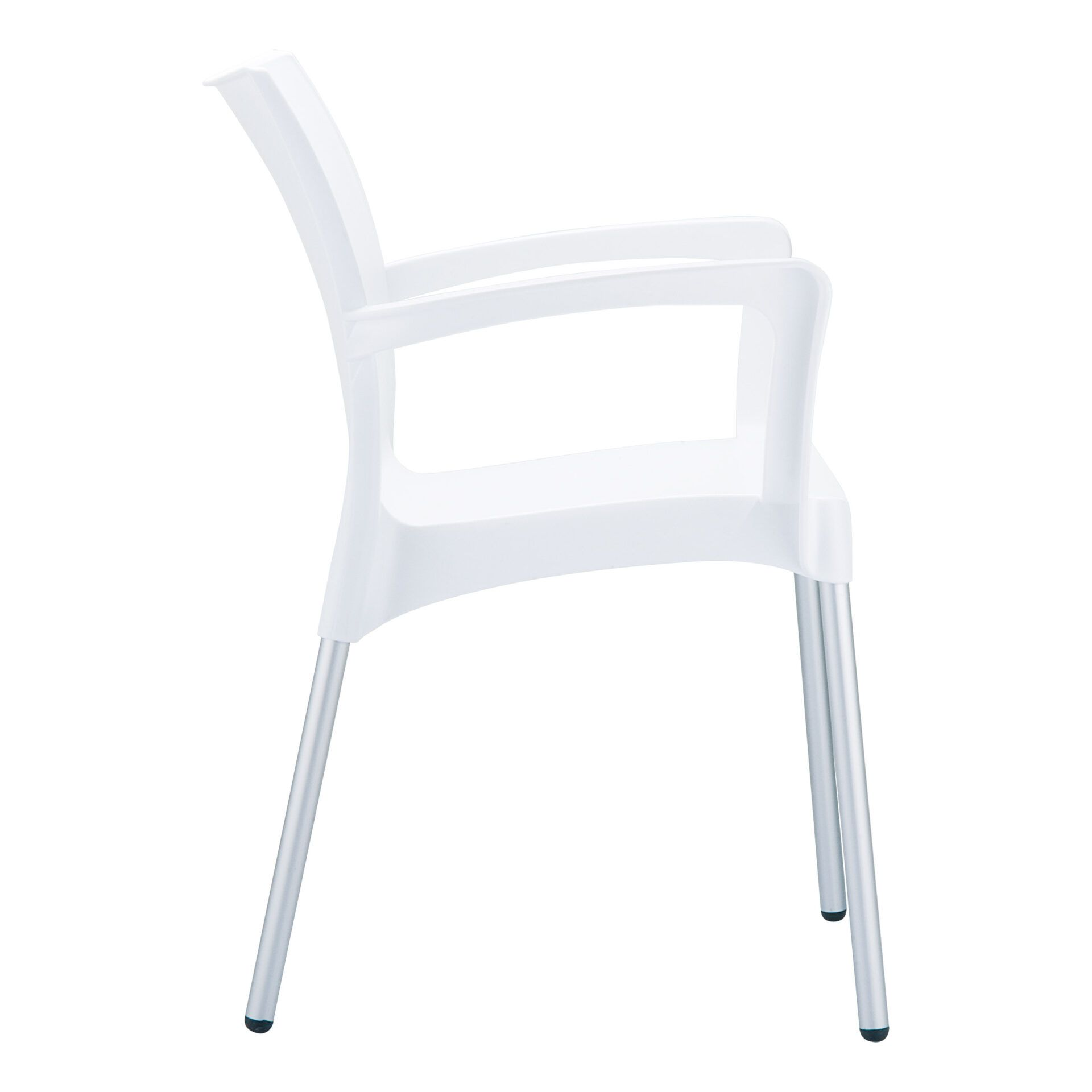 commercial polypropylene dolce chair white side