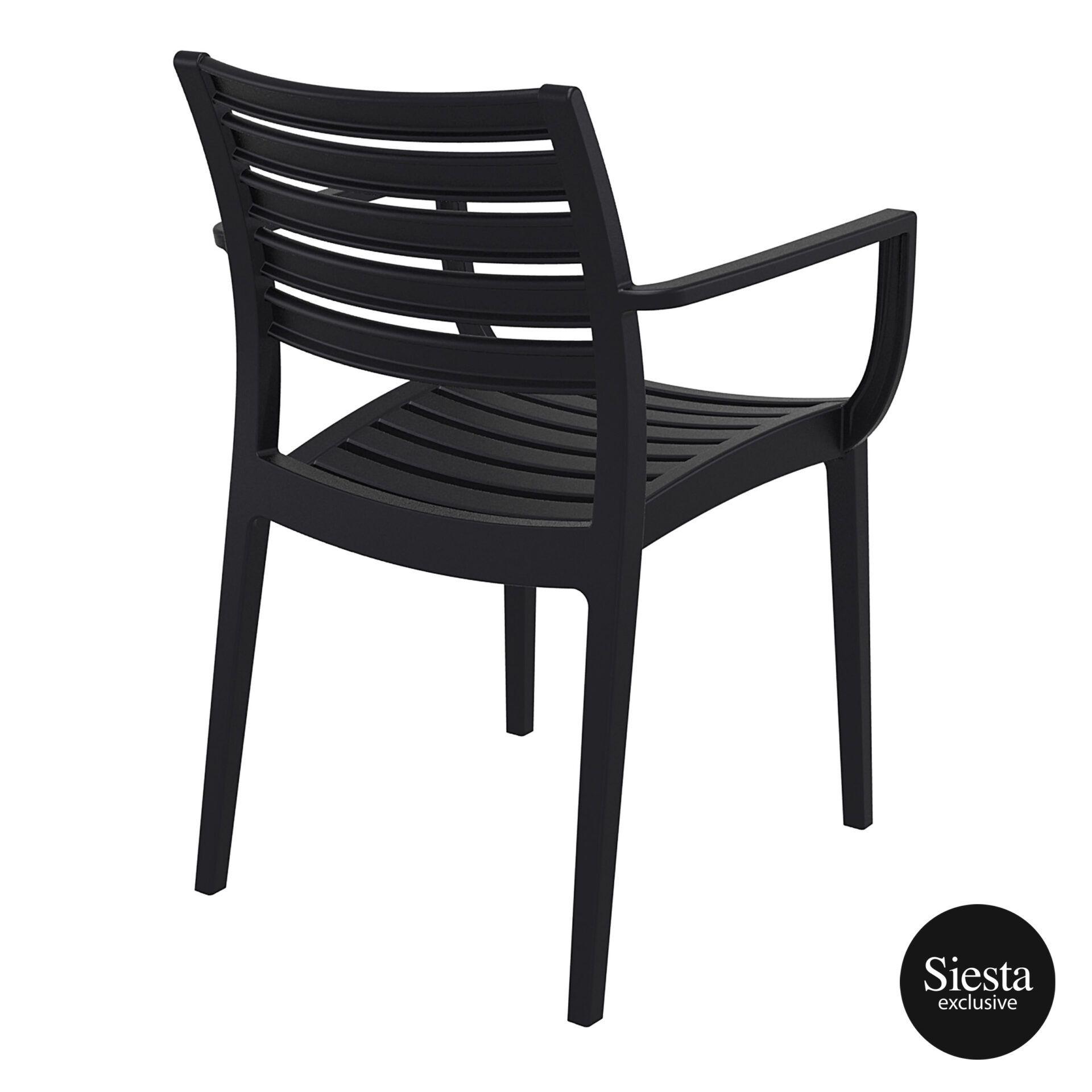 dining artemis armchair black back side 1