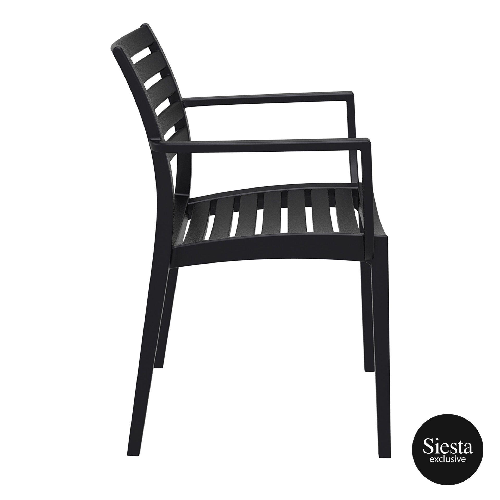dining artemis armchair black side 1