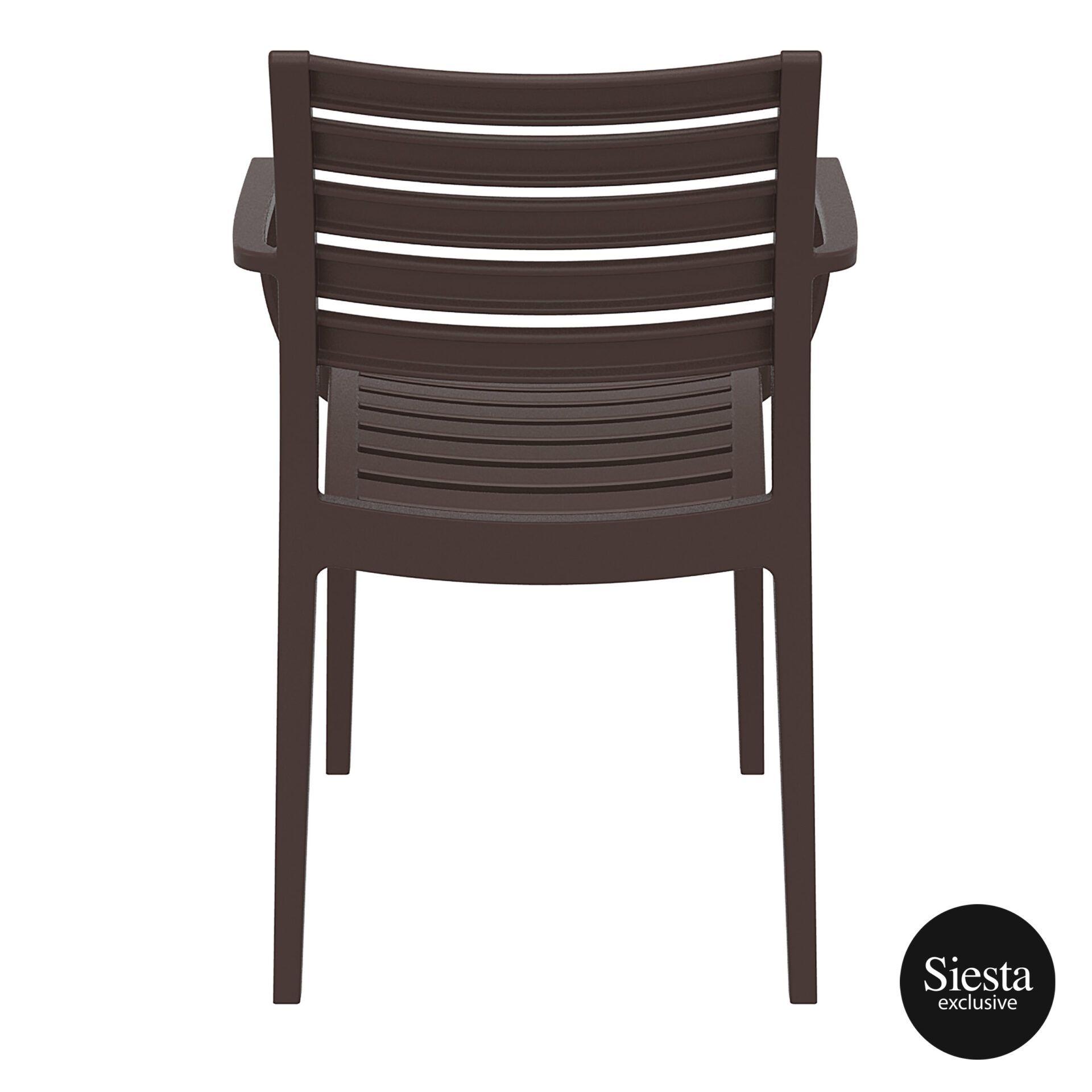 dining artemis armchair brown back 1
