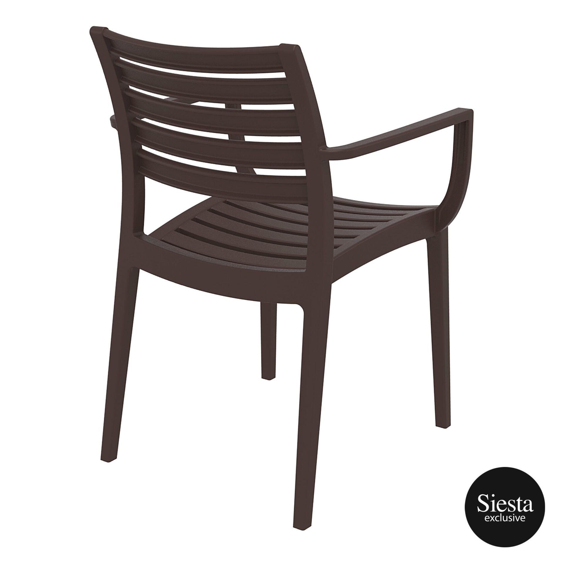 dining artemis armchair brown back side 1
