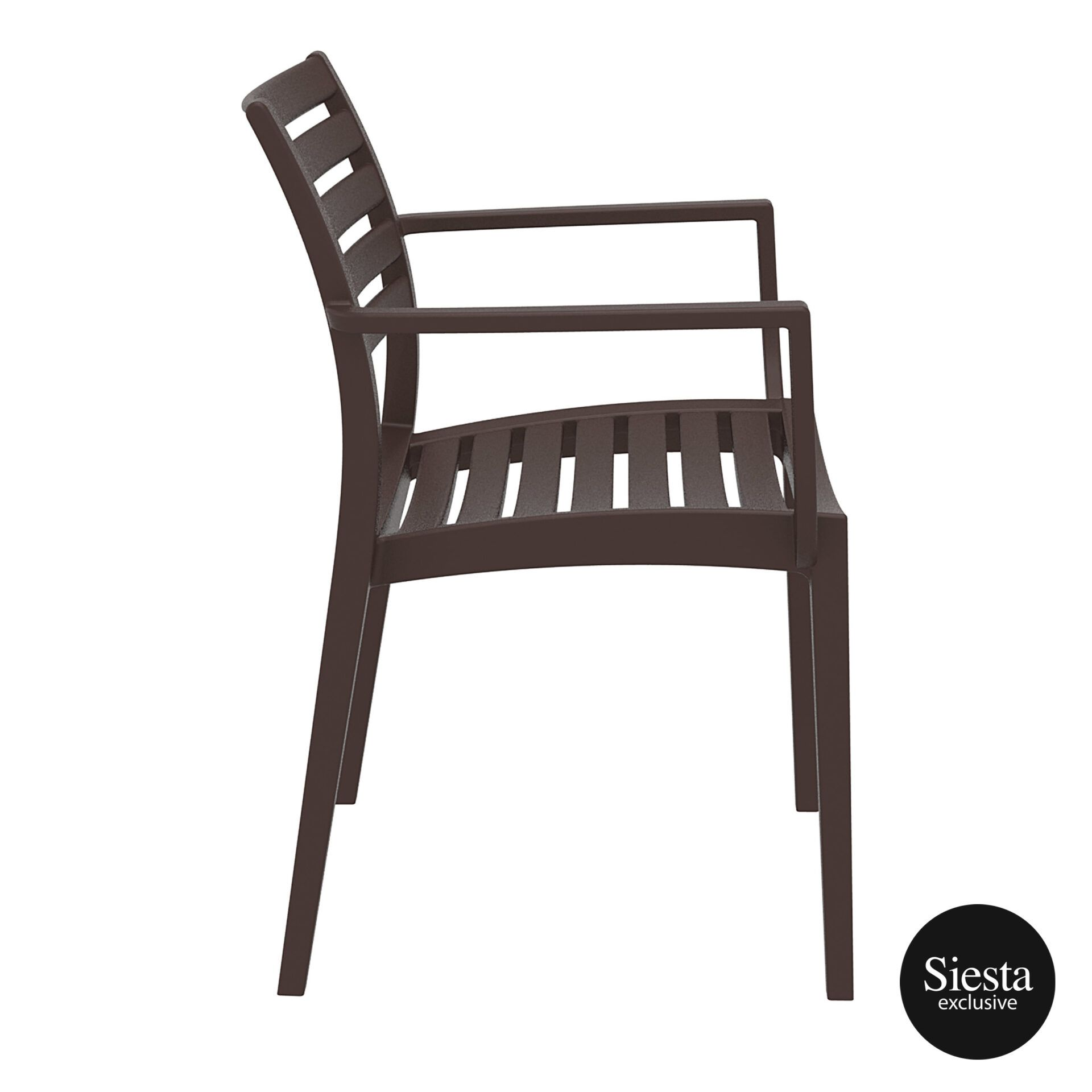 dining artemis armchair brown side 1