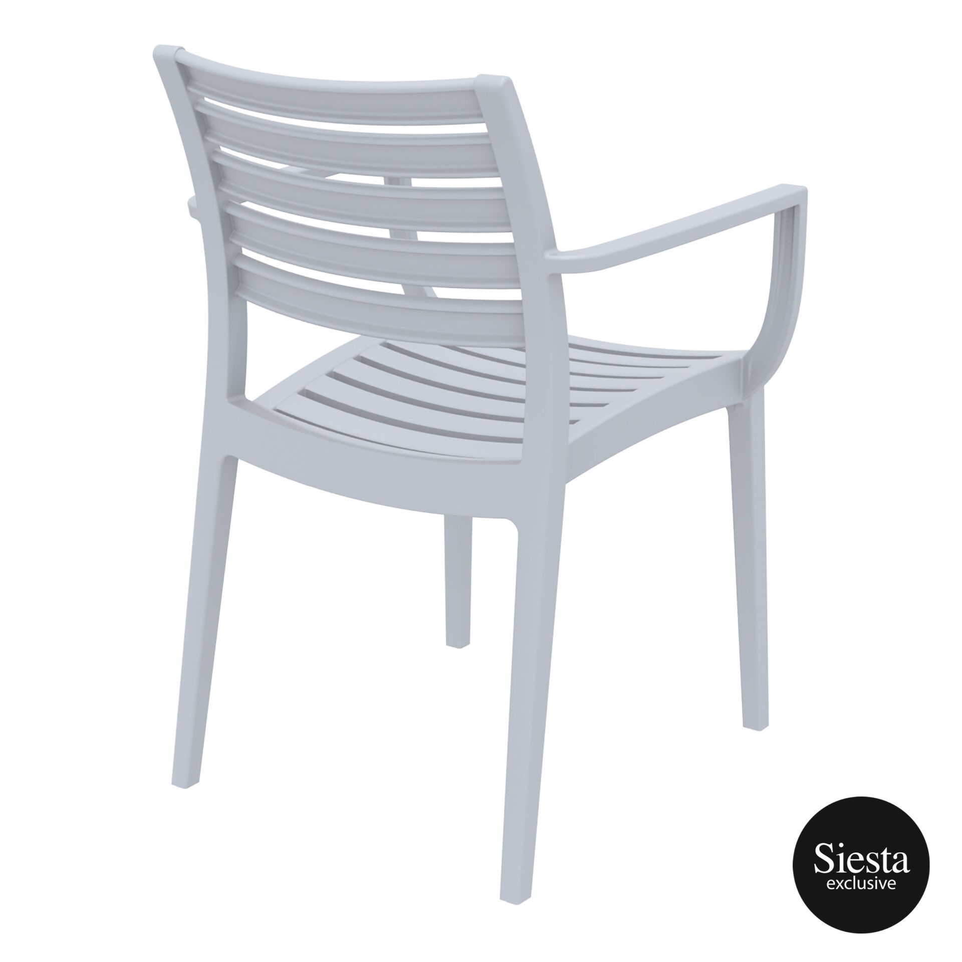 dining artemis armchair silvergrey back side 1