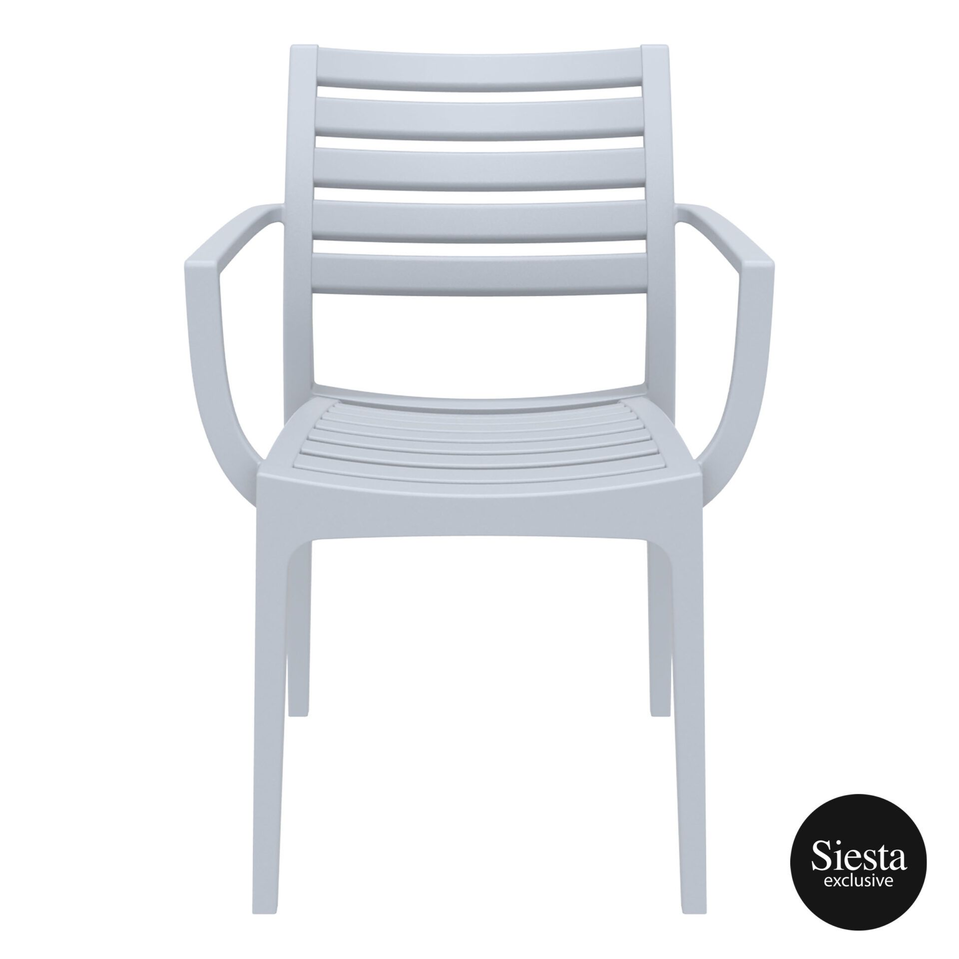 dining artemis armchair silvergrey front 1