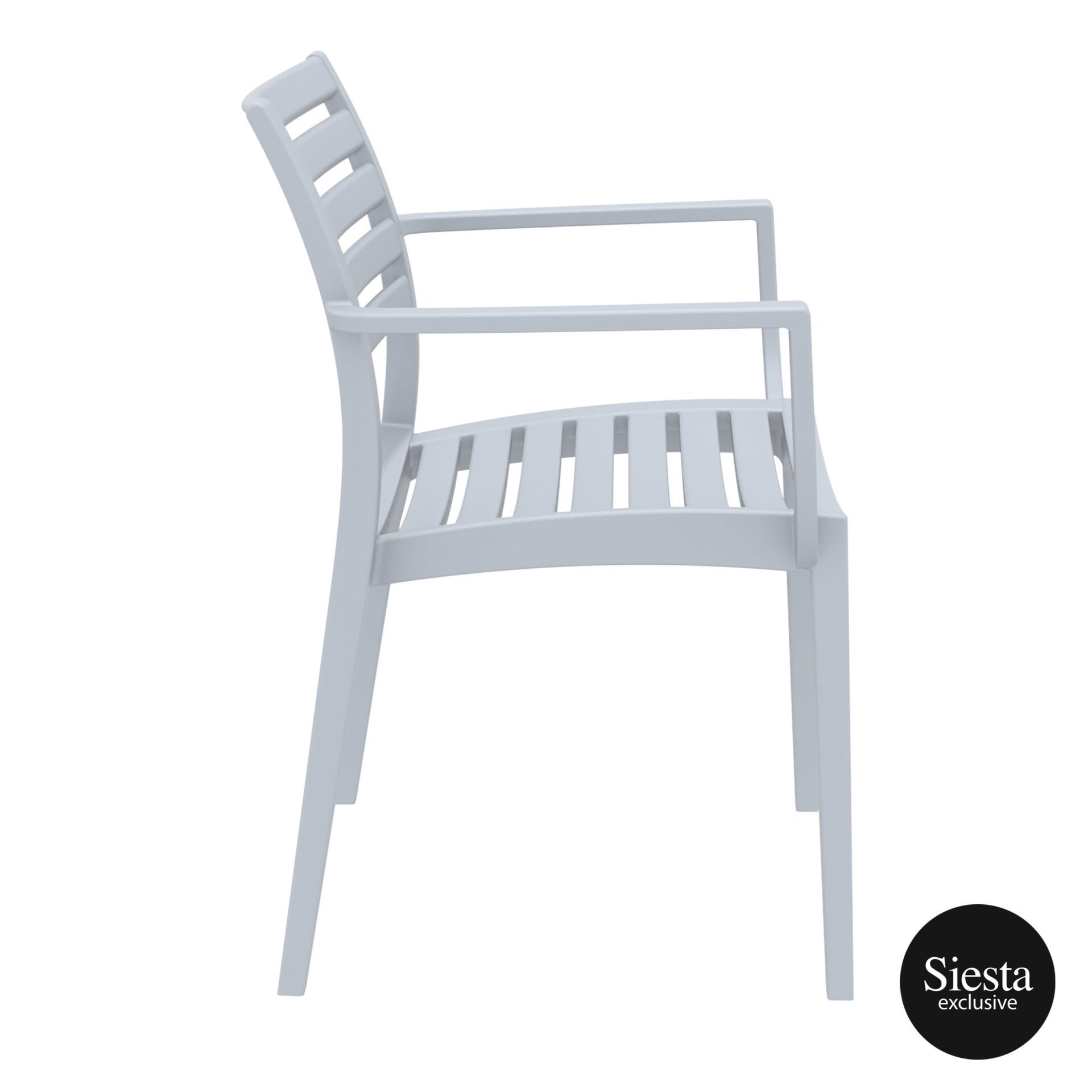 dining artemis armchair silvergrey side 1