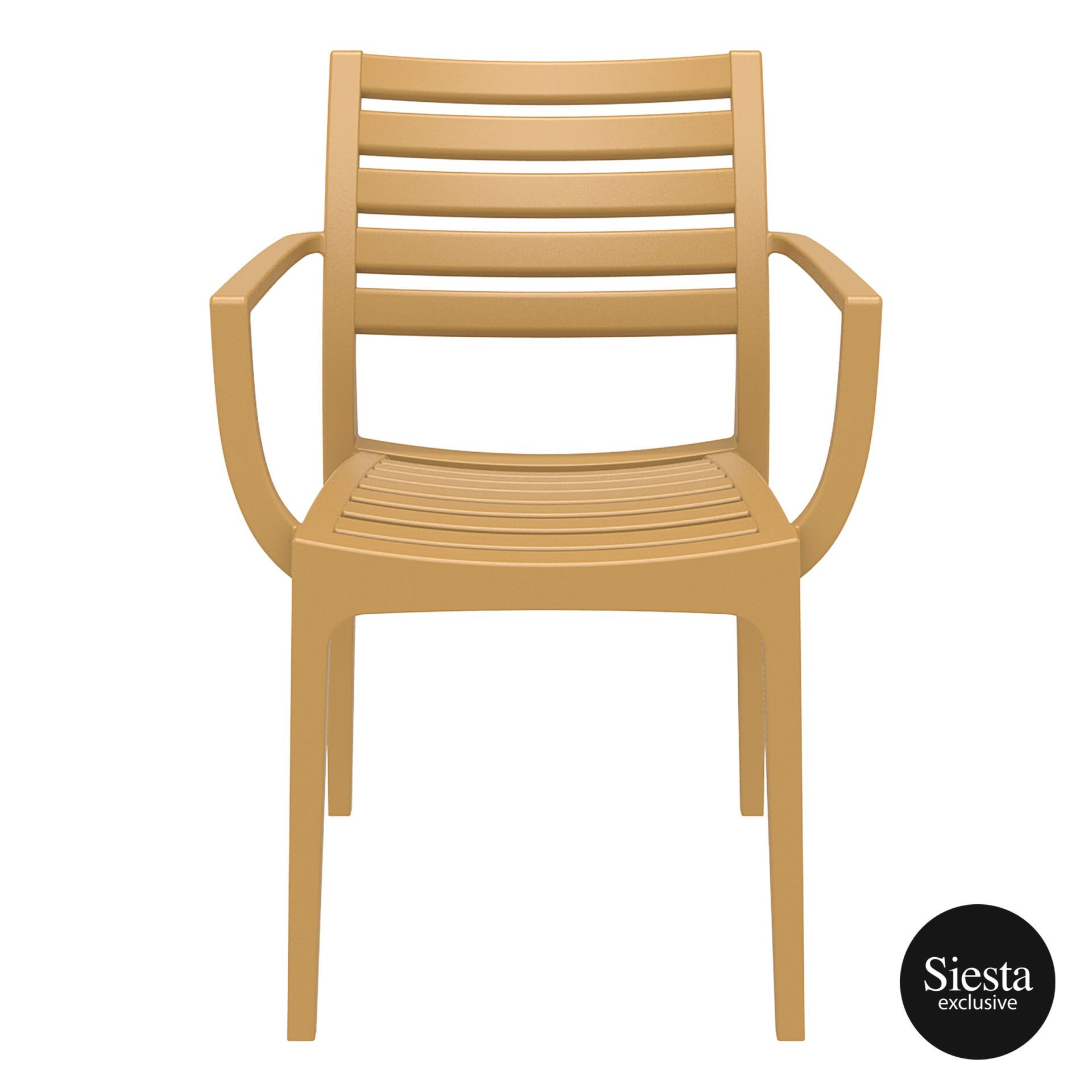 dining artemis armchair teak front 1
