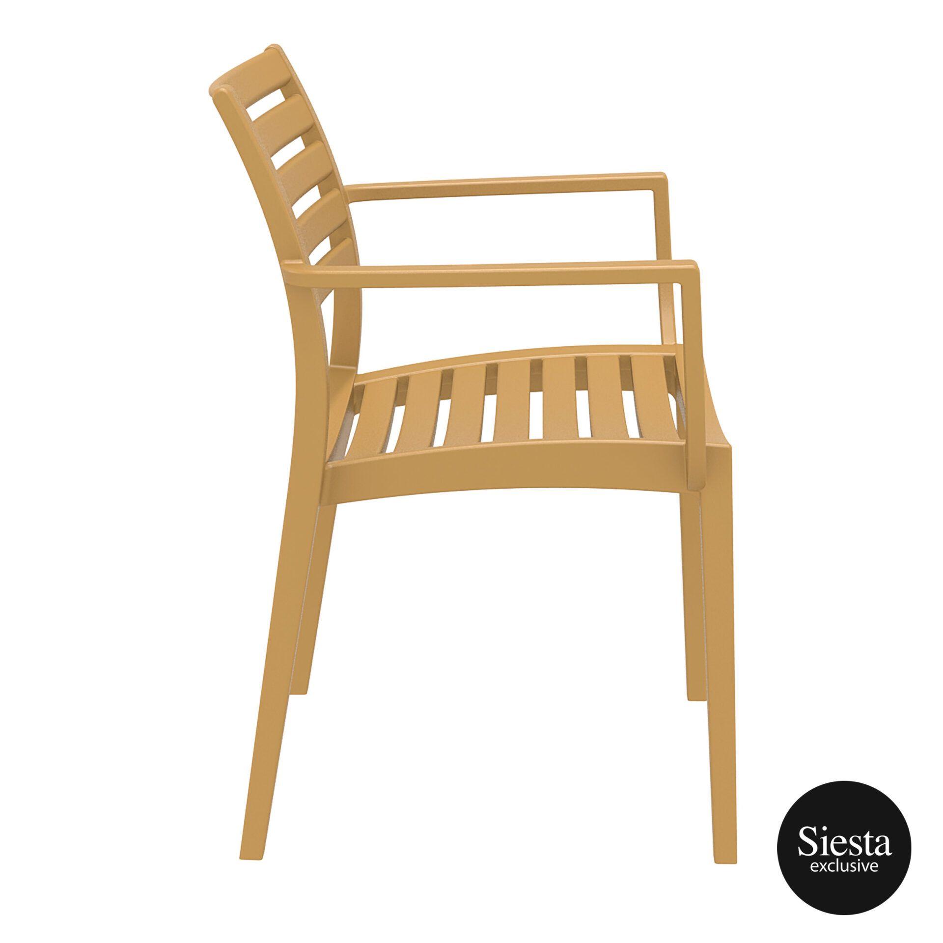 dining artemis armchair teak side 1