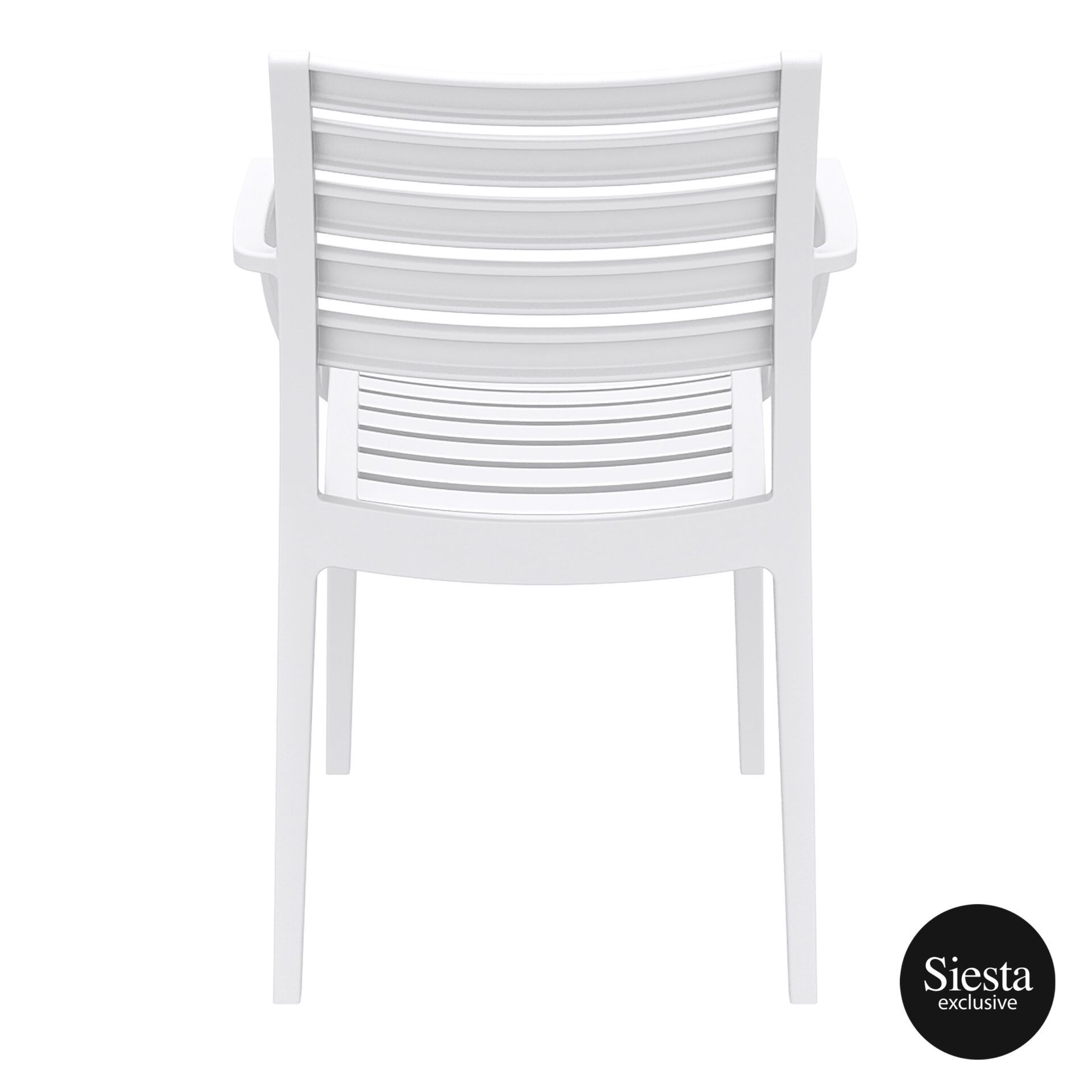dining artemis armchair white back 1