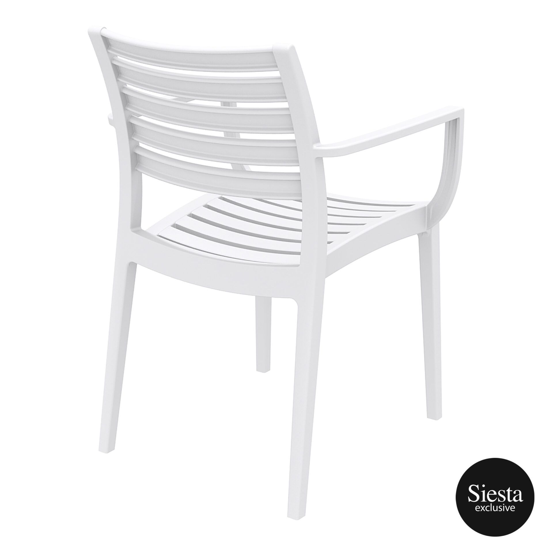 dining artemis armchair white back side 1