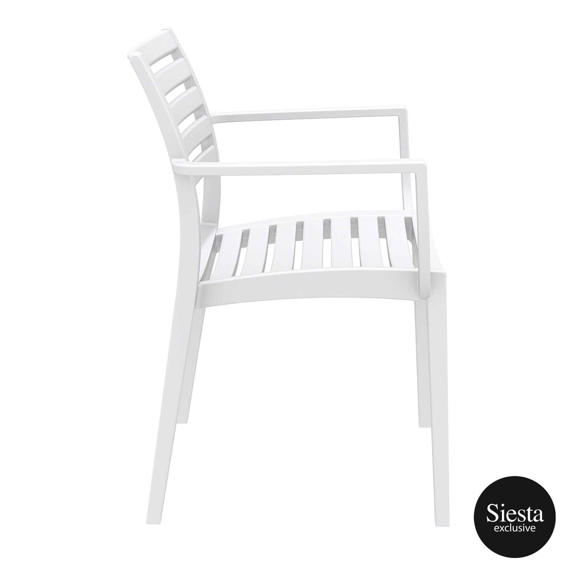 dining artemis armchair white side 1