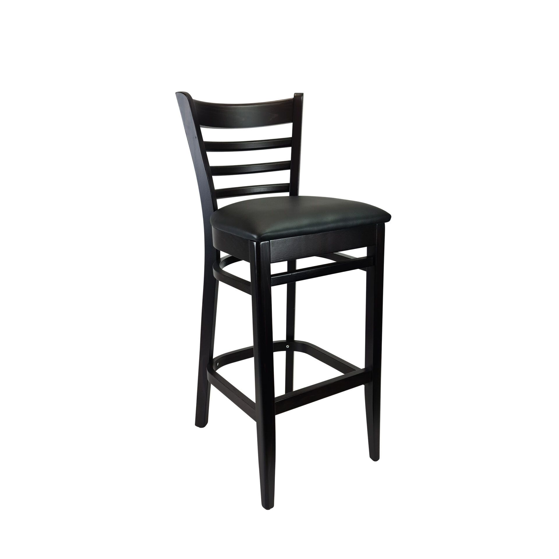 florence barstool wenge.black cushion front side