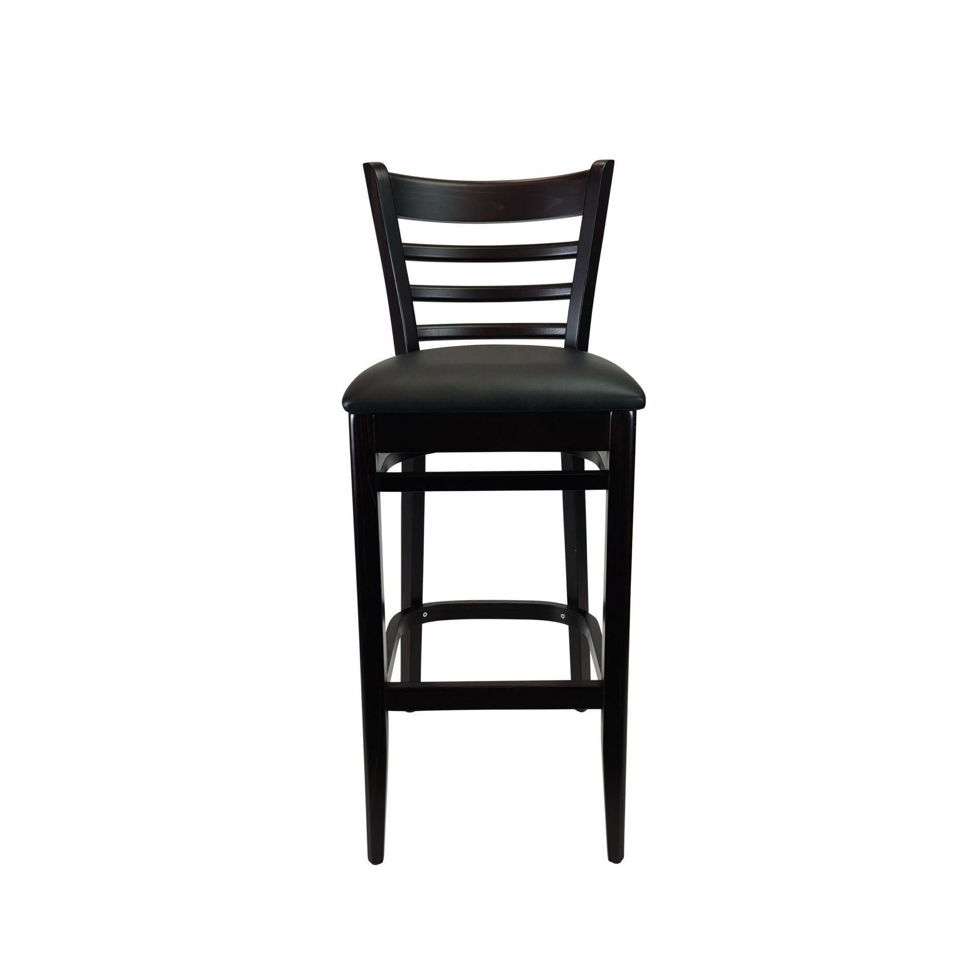 florence barstool wenge.black cushion front