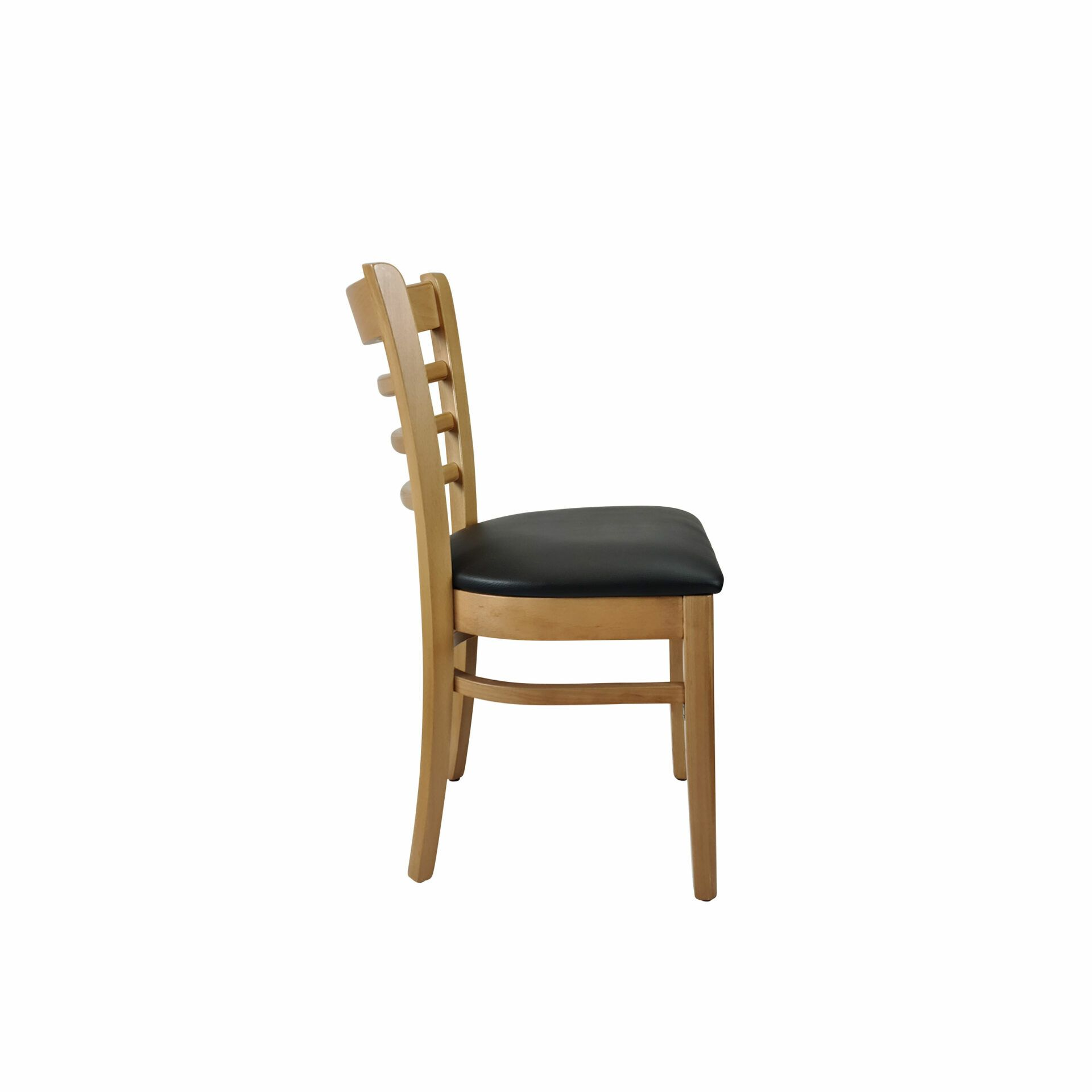 florence chair natural.black cushion side