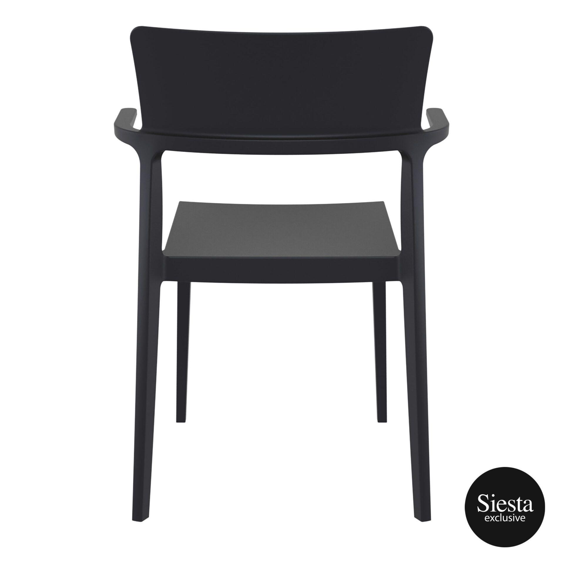 hospitality dining polypropylene plus chair black back 1