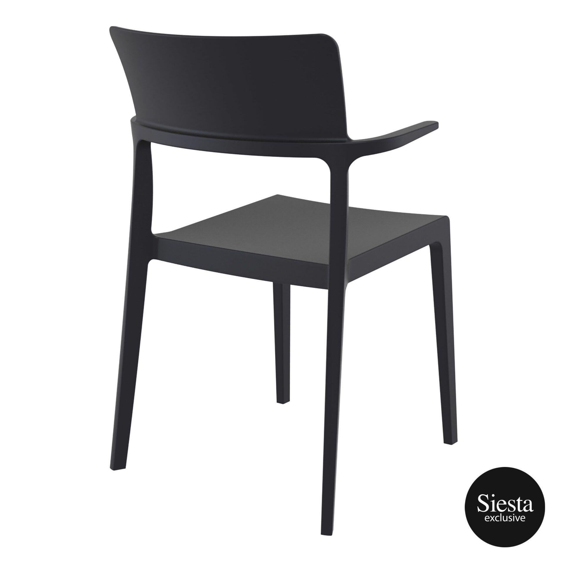 hospitality dining polypropylene plus chair black back side 1