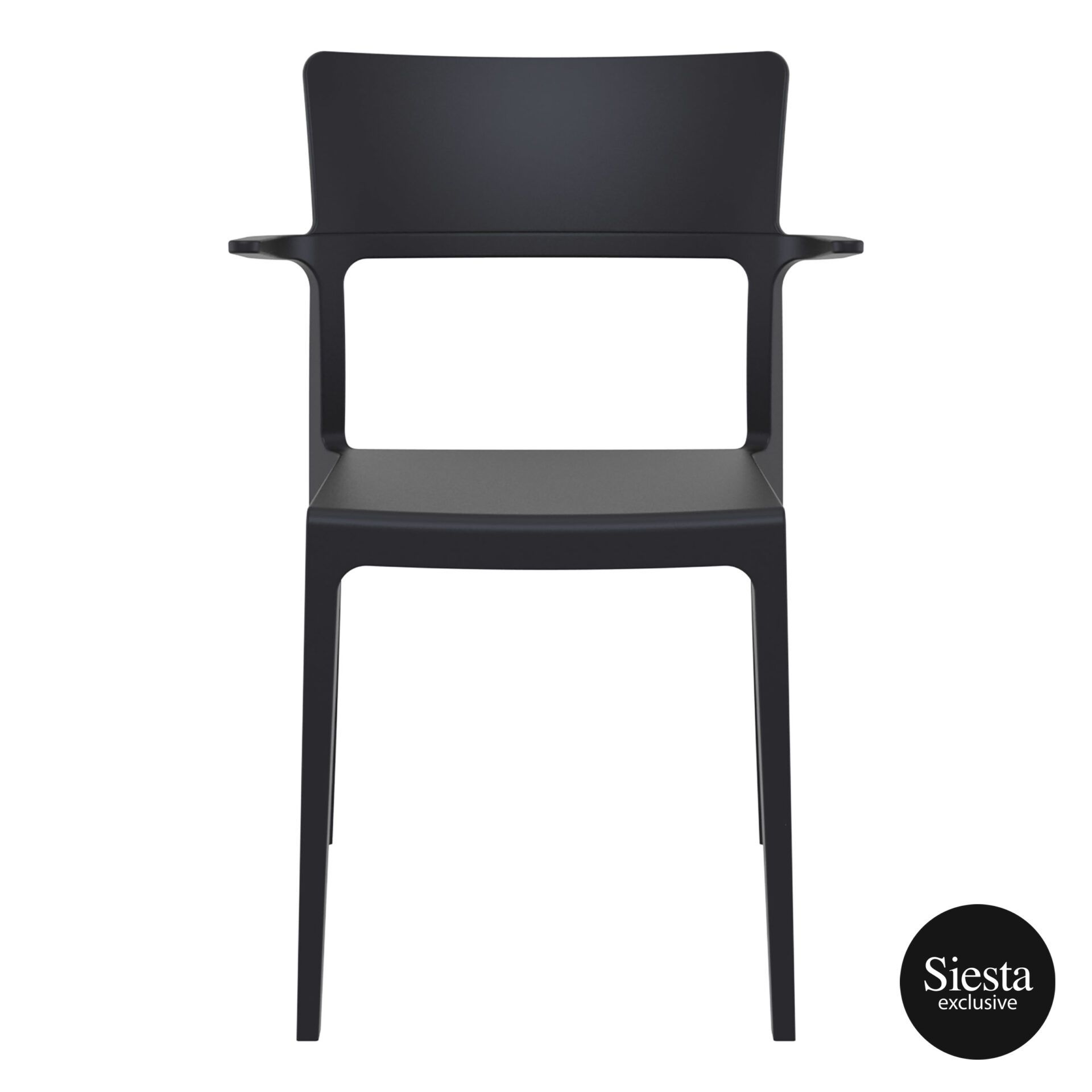 hospitality dining polypropylene plus chair black front 1