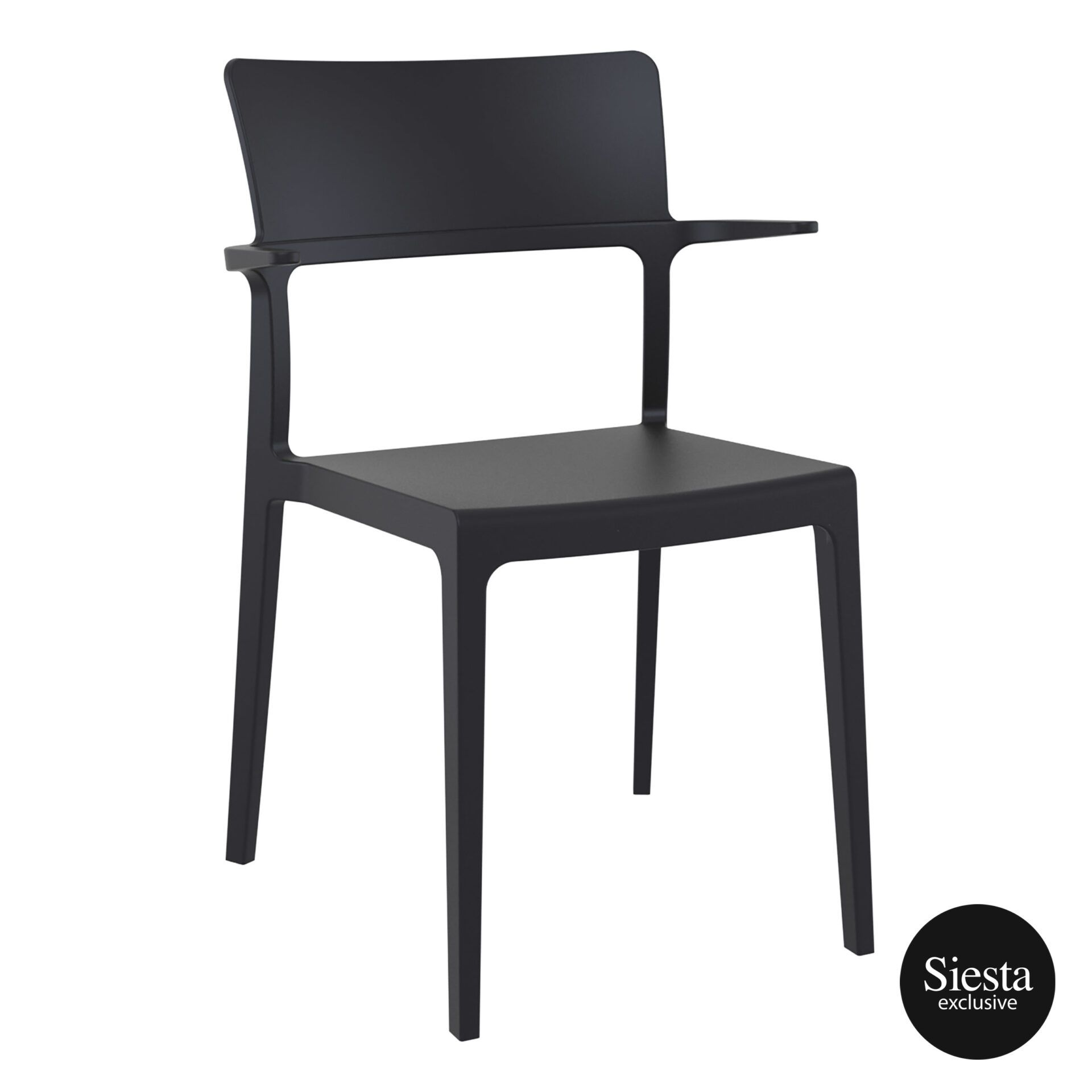 hospitality dining polypropylene plus chair black front side 1