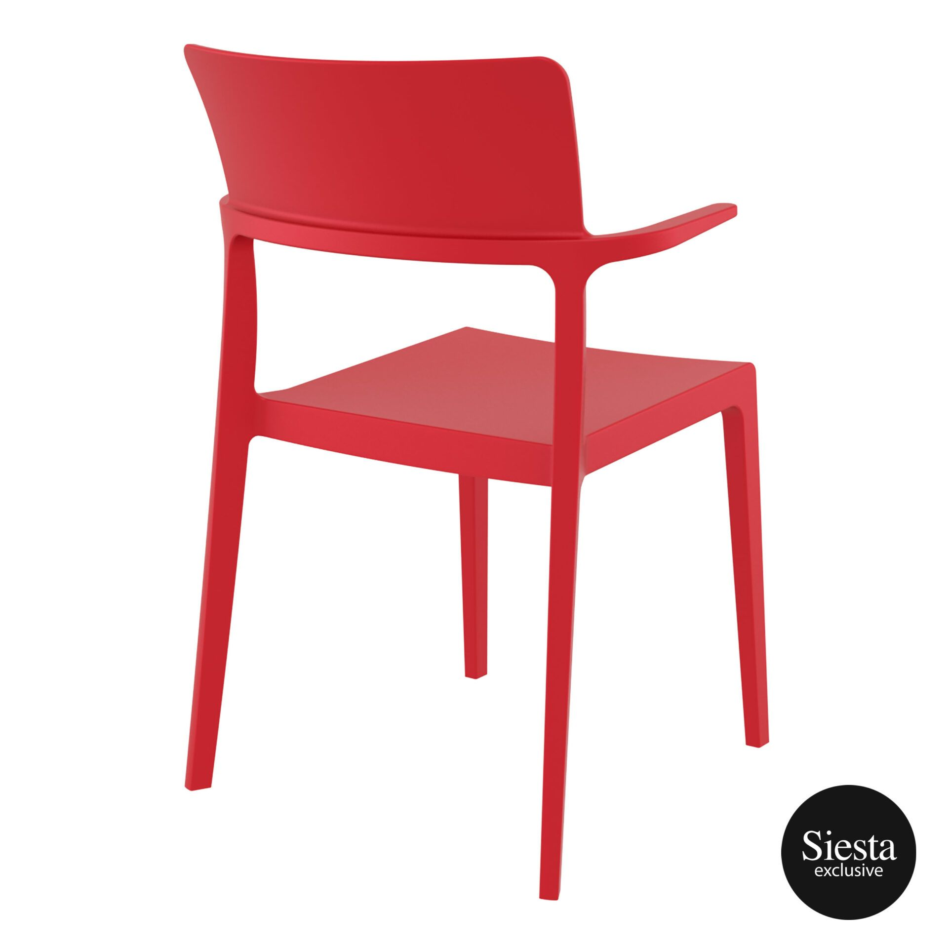 hospitality dining polypropylene plus chair red back side 1