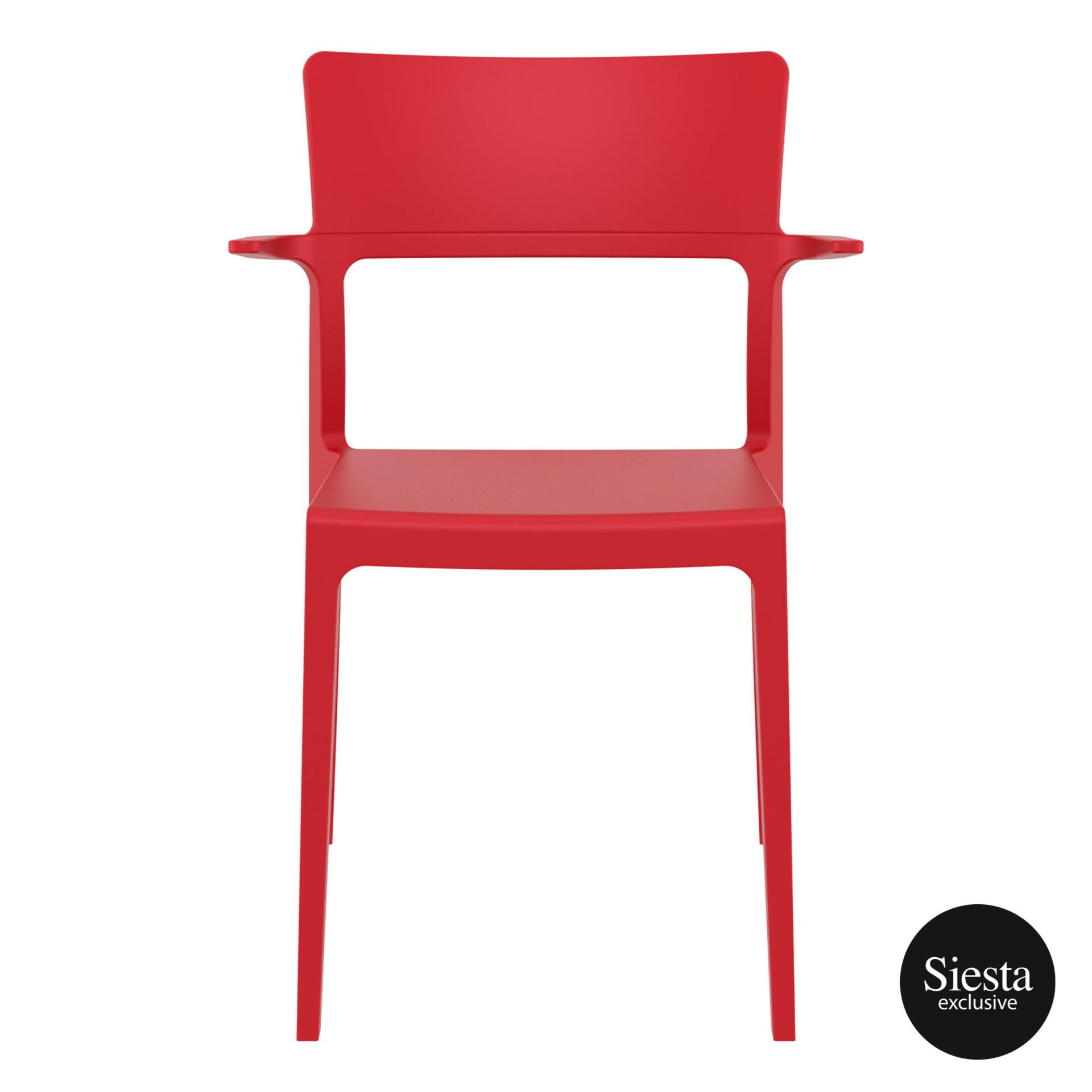 hospitality dining polypropylene plus chair red front 1