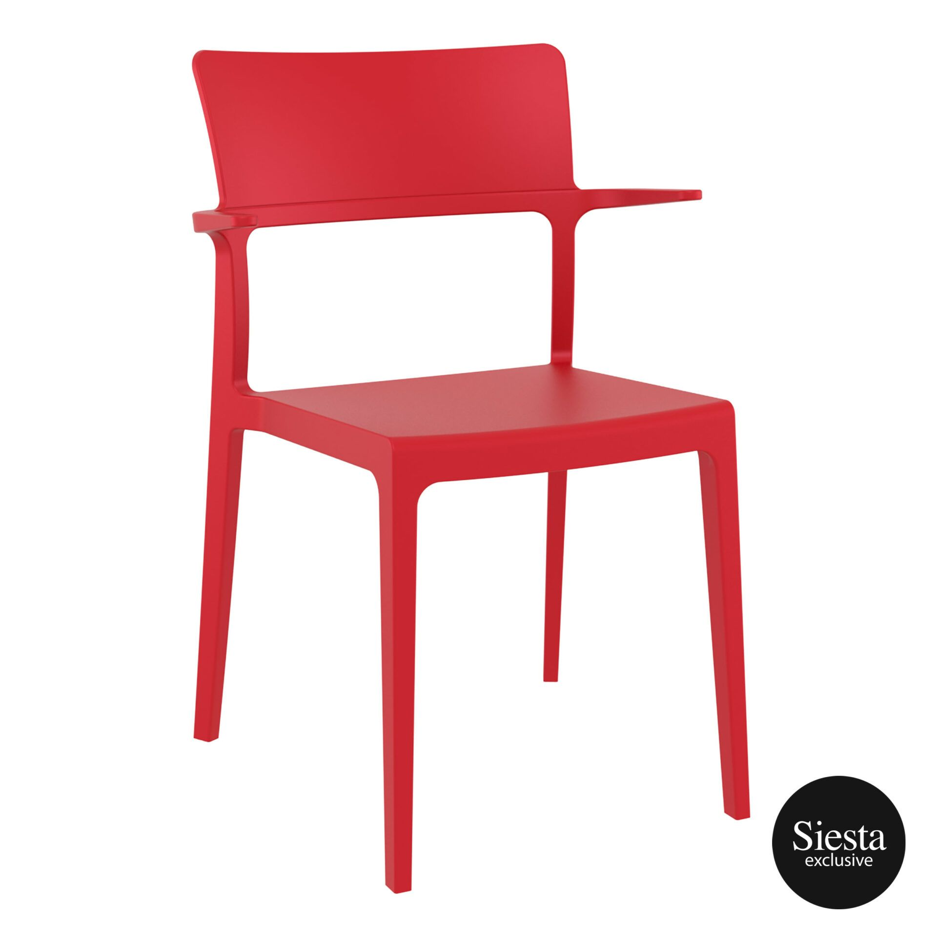 hospitality dining polypropylene plus chair red front side 1